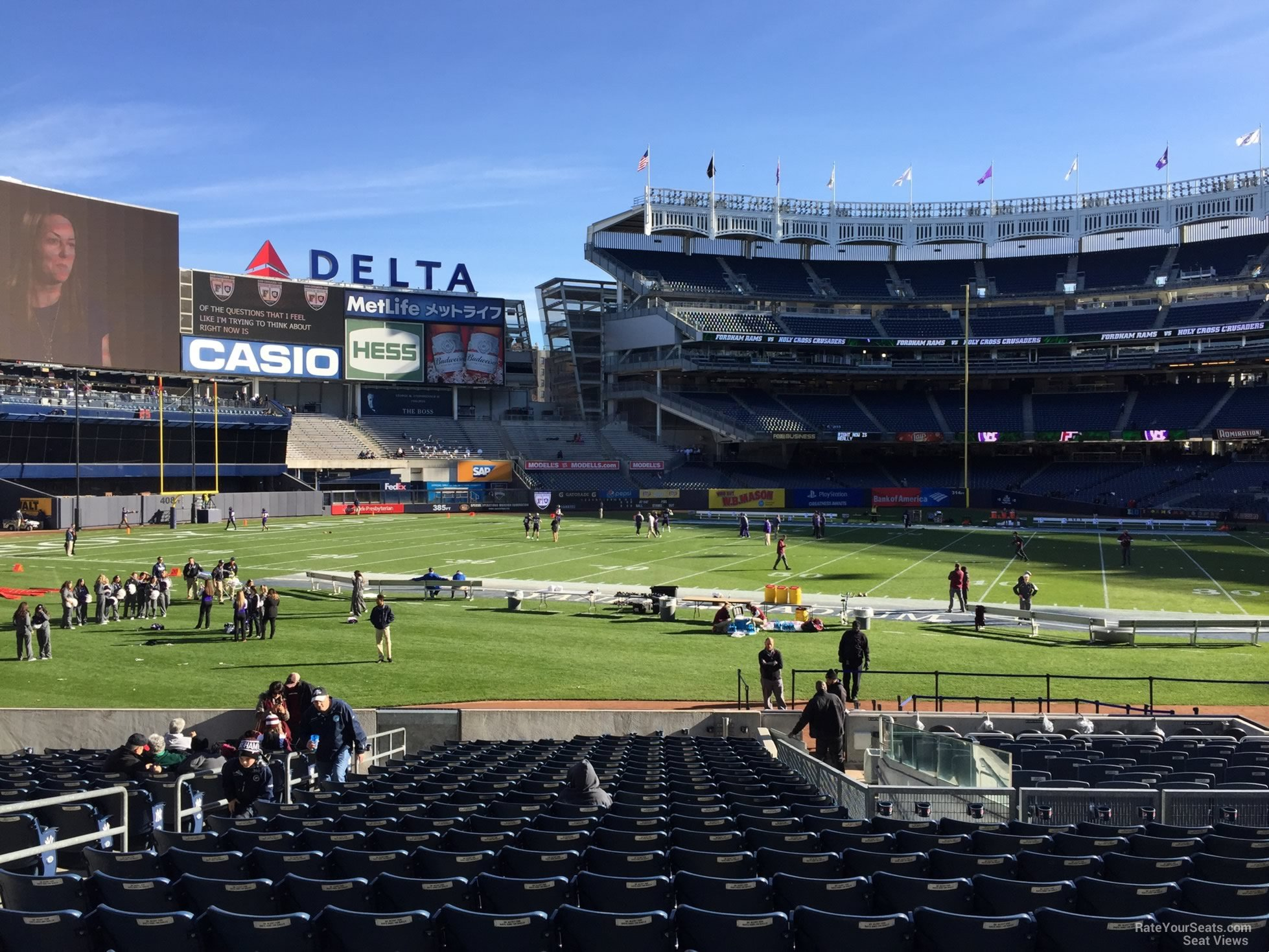 Football Seat View for Yankee Stadium Section 129, Row 22