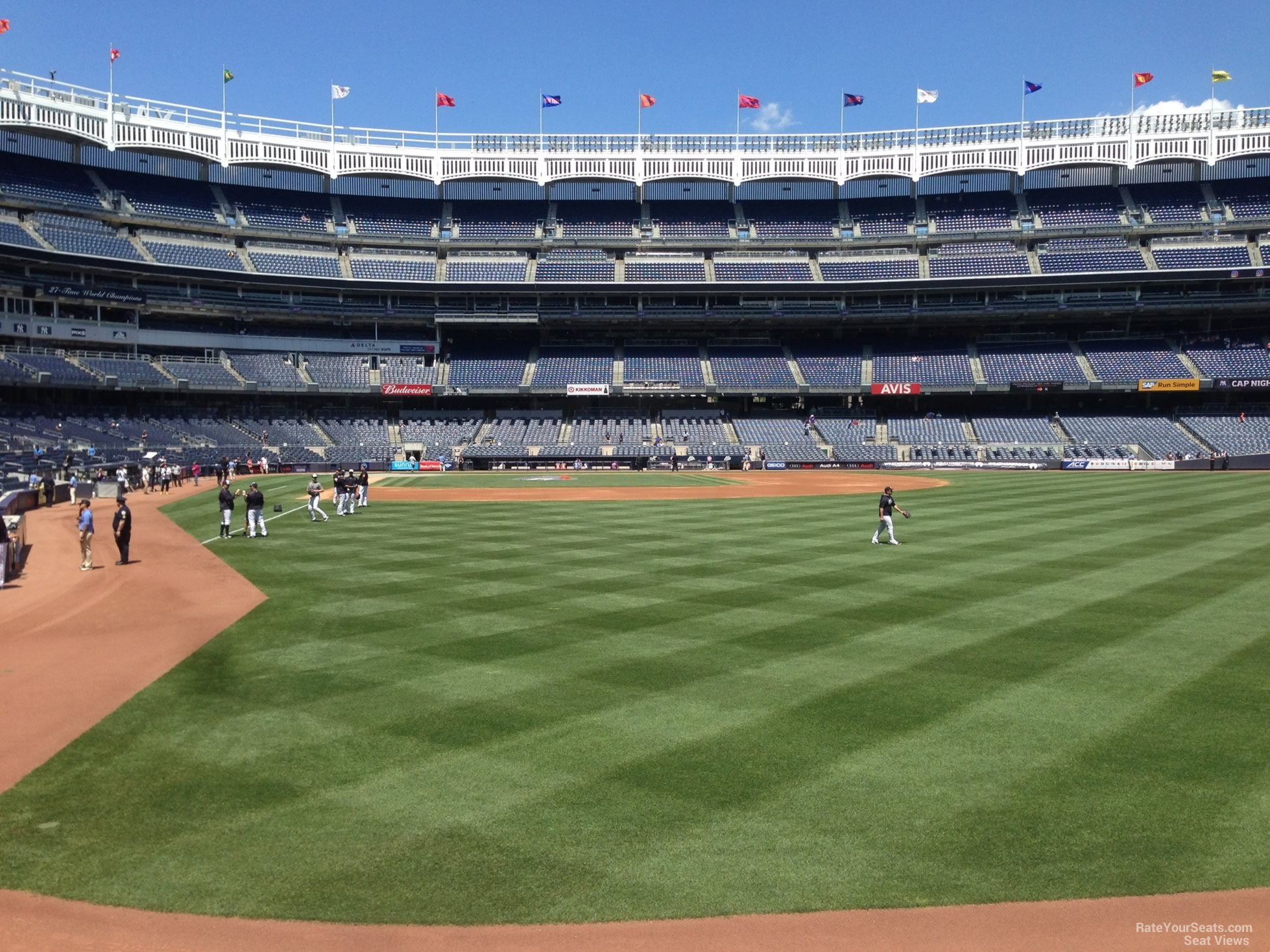 New York Yankees Seat View for Yankee Stadium Section 106, Row 2