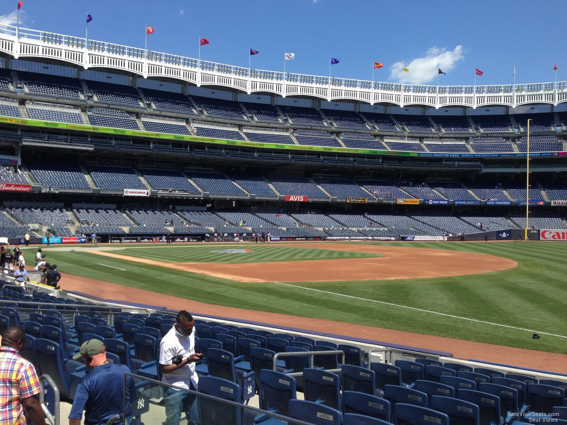 New York Yankees Seat View for Yankee Stadium Section 112, Row 2