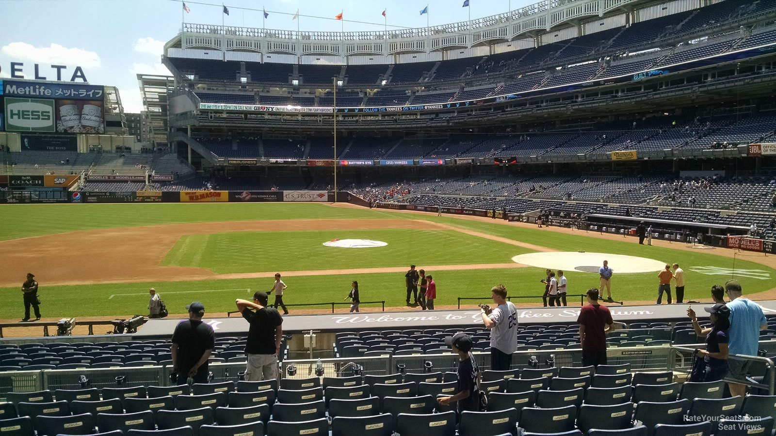 New York Yankees Seat View for Yankee Stadium Section 124, Row 11
