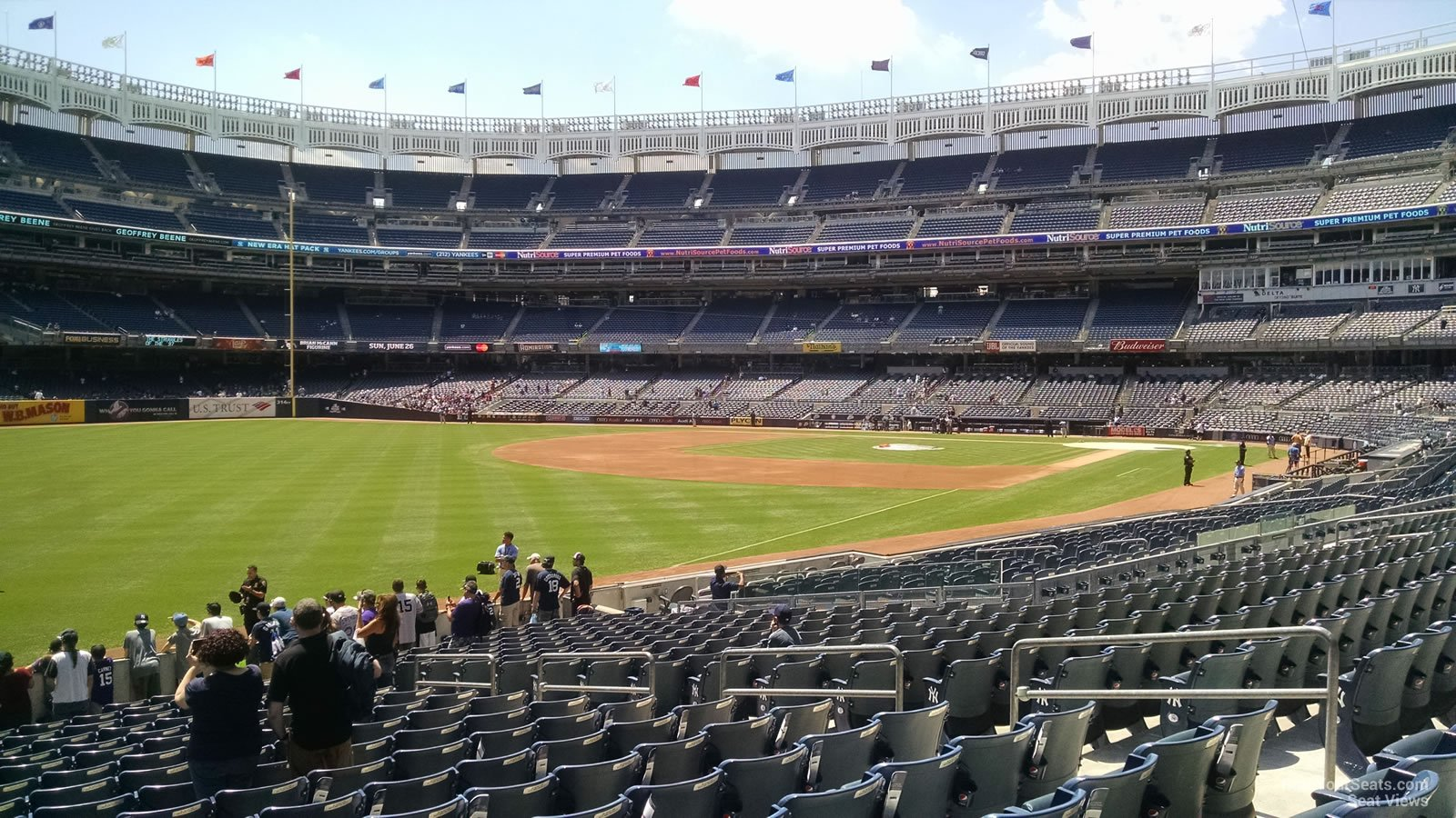 New York Yankees Seat View for Yankee Stadium Section 130, Row 18