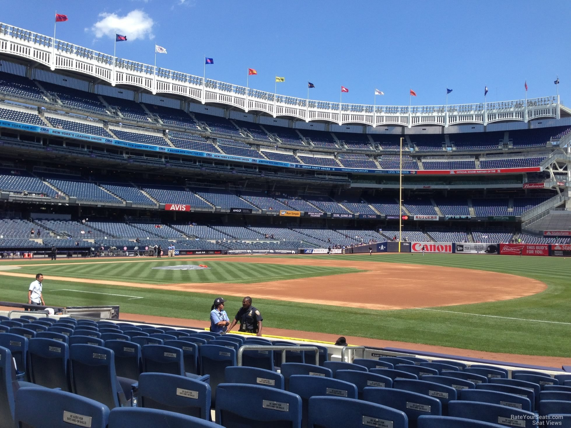 New York Yankees Seat View for Yankee Stadium Section 14A, Row 9