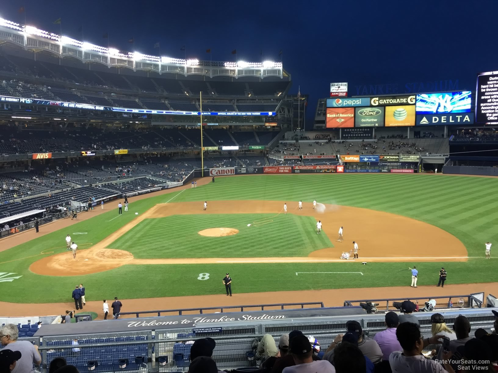 New York Yankees Seat View for Yankee Stadium Section 216, Row 9