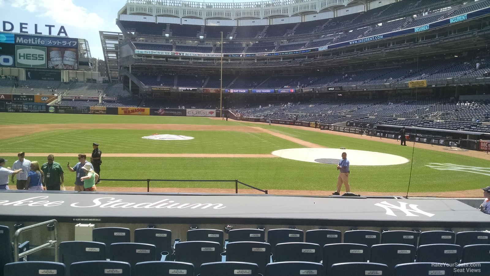 New York Yankees Seat View for Yankee Stadium Section 23, Row 5