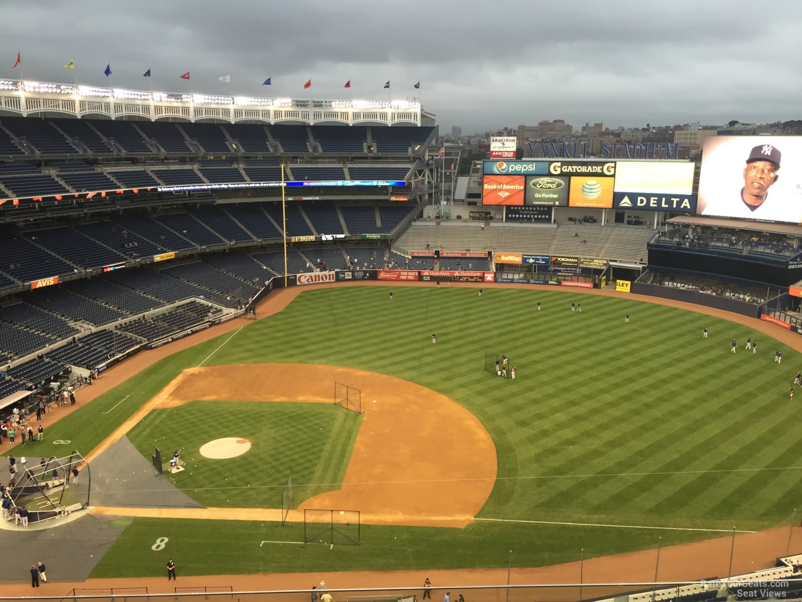 New York Yankees Seat View for Yankee Stadium Section 415, Row 6