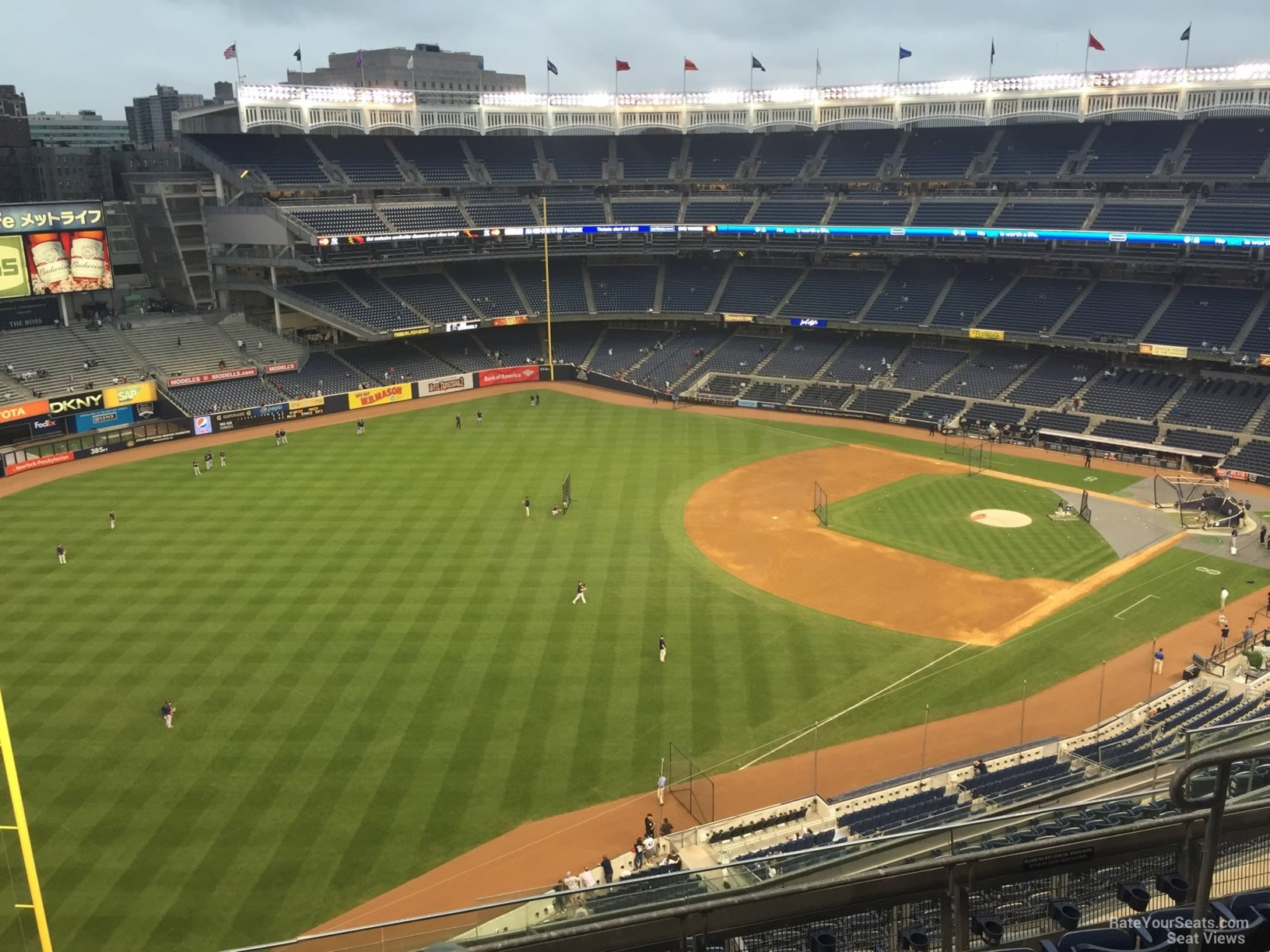 New York Yankees Seat View for Yankee Stadium Section 430, Row 6