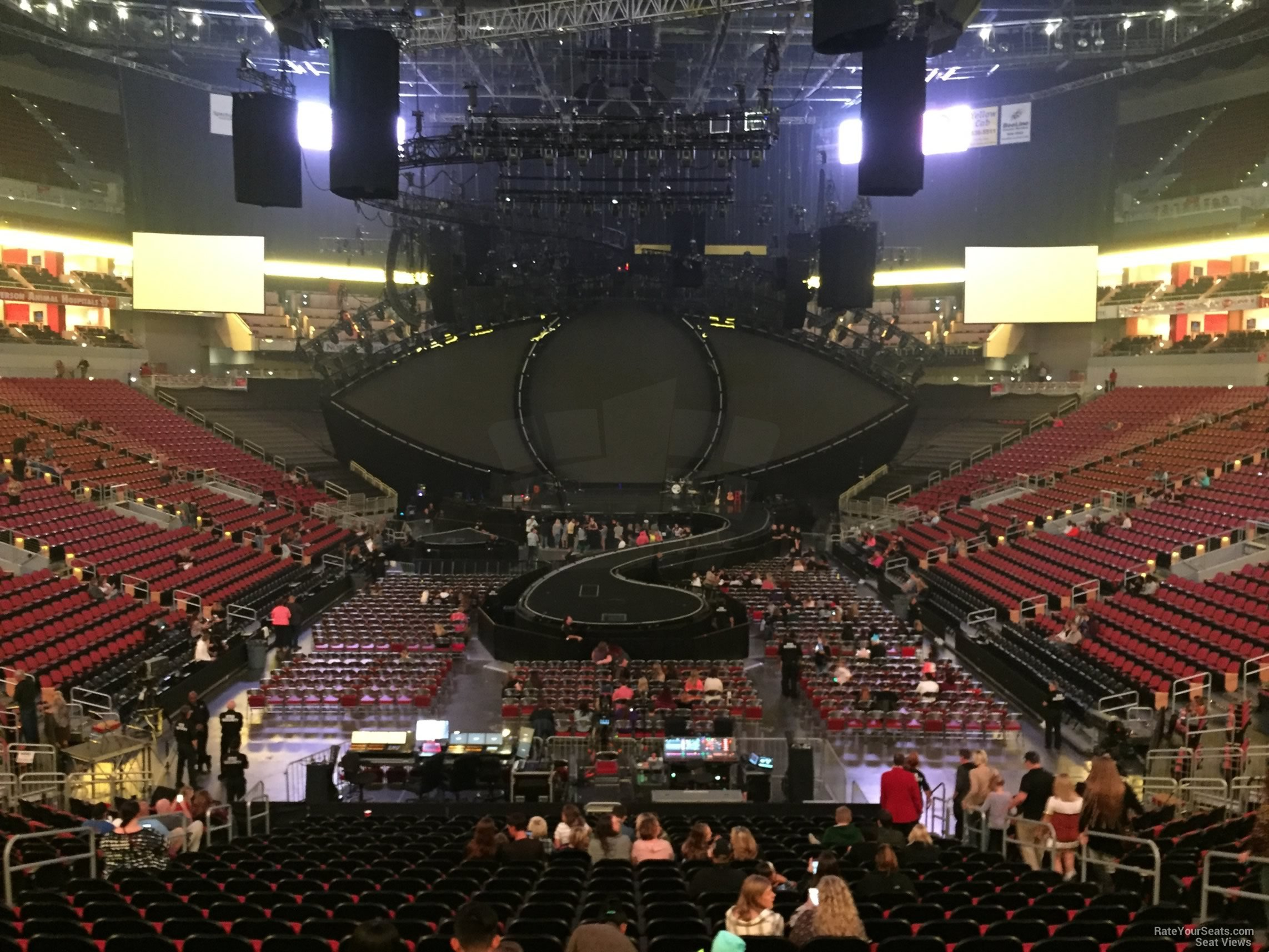 KFC Yum! Center Section 111 Concert Seating ...
