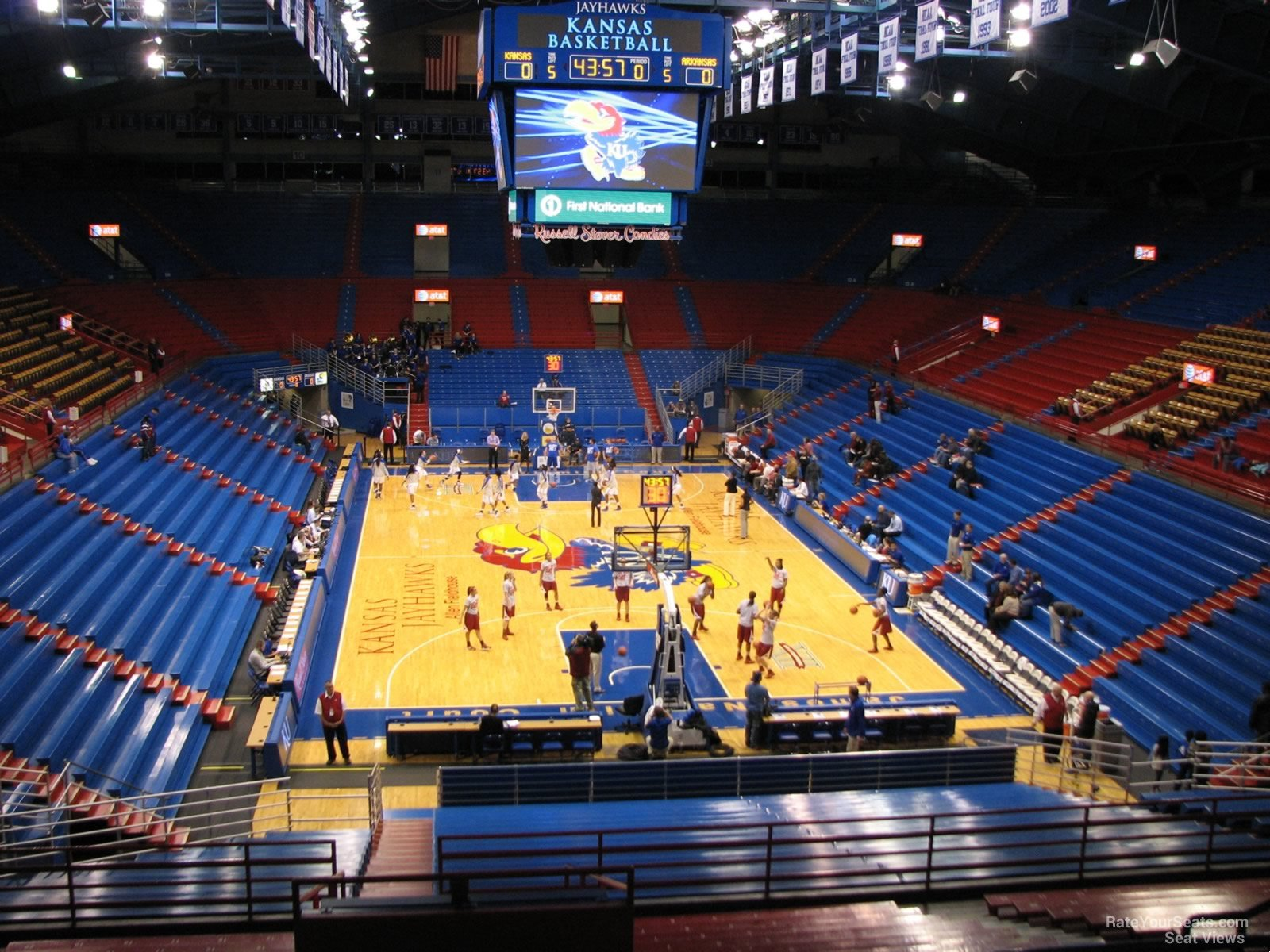 Seat View for Allen Fieldhouse Section 1, Row 18
