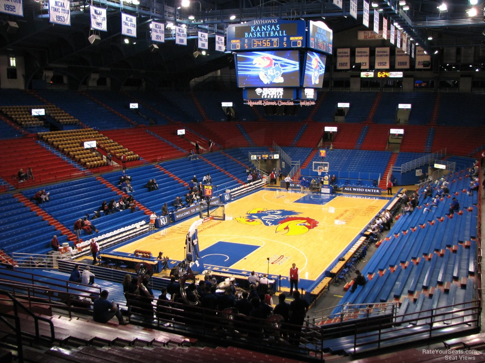 Seat View for Allen Fieldhouse Section 10, Row 18