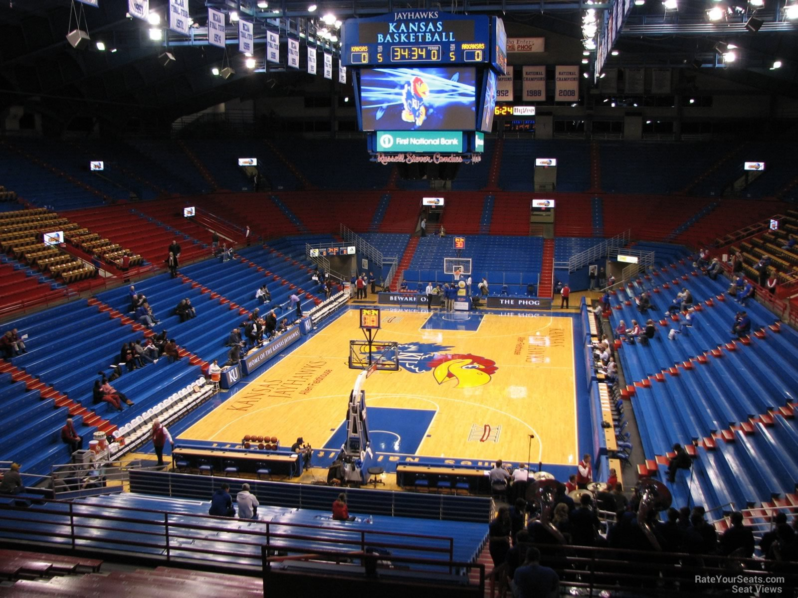 Seat View for Allen Fieldhouse Section 11, Row 18