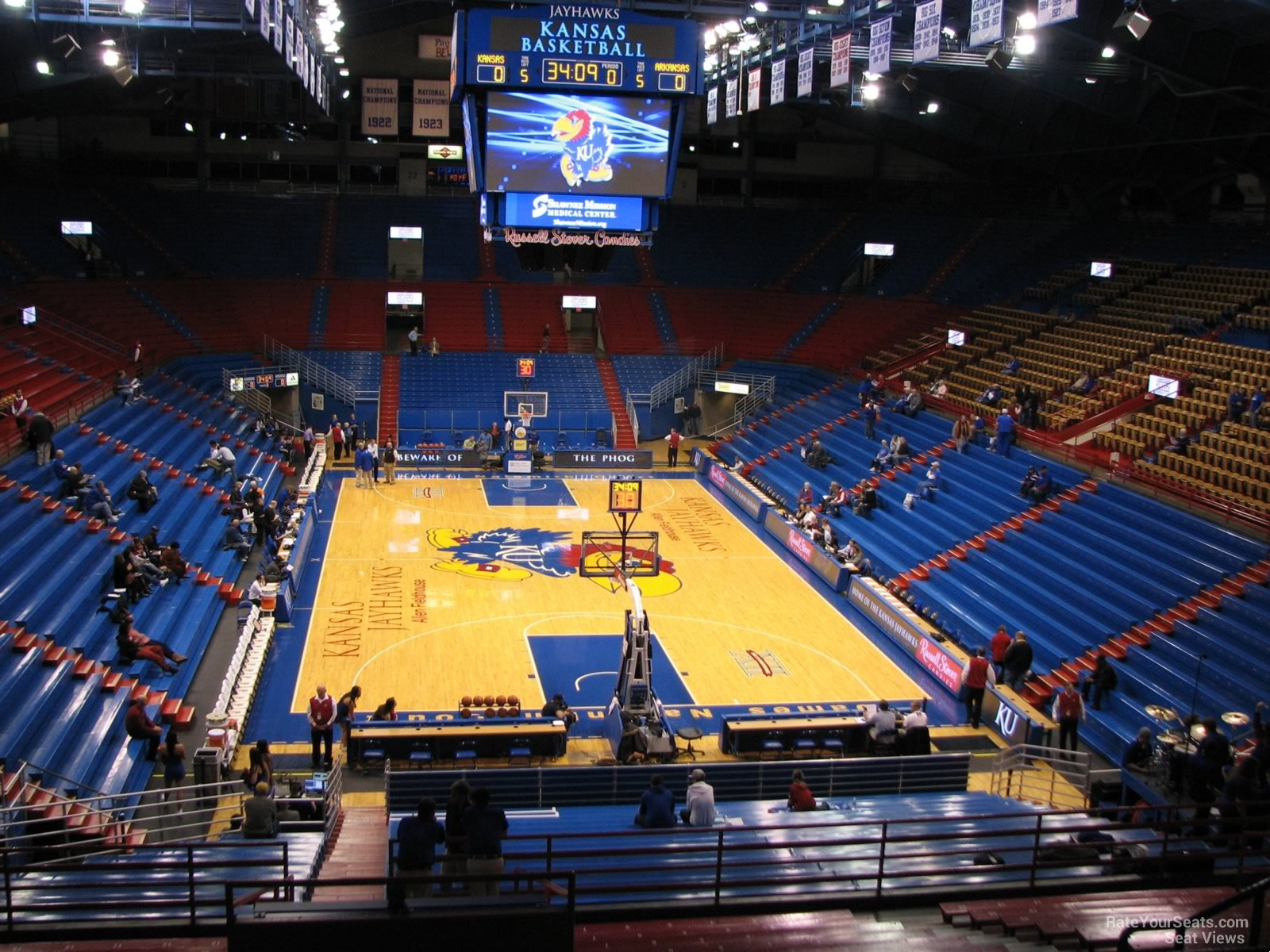Seat View for Allen Fieldhouse Section 12, Row 18