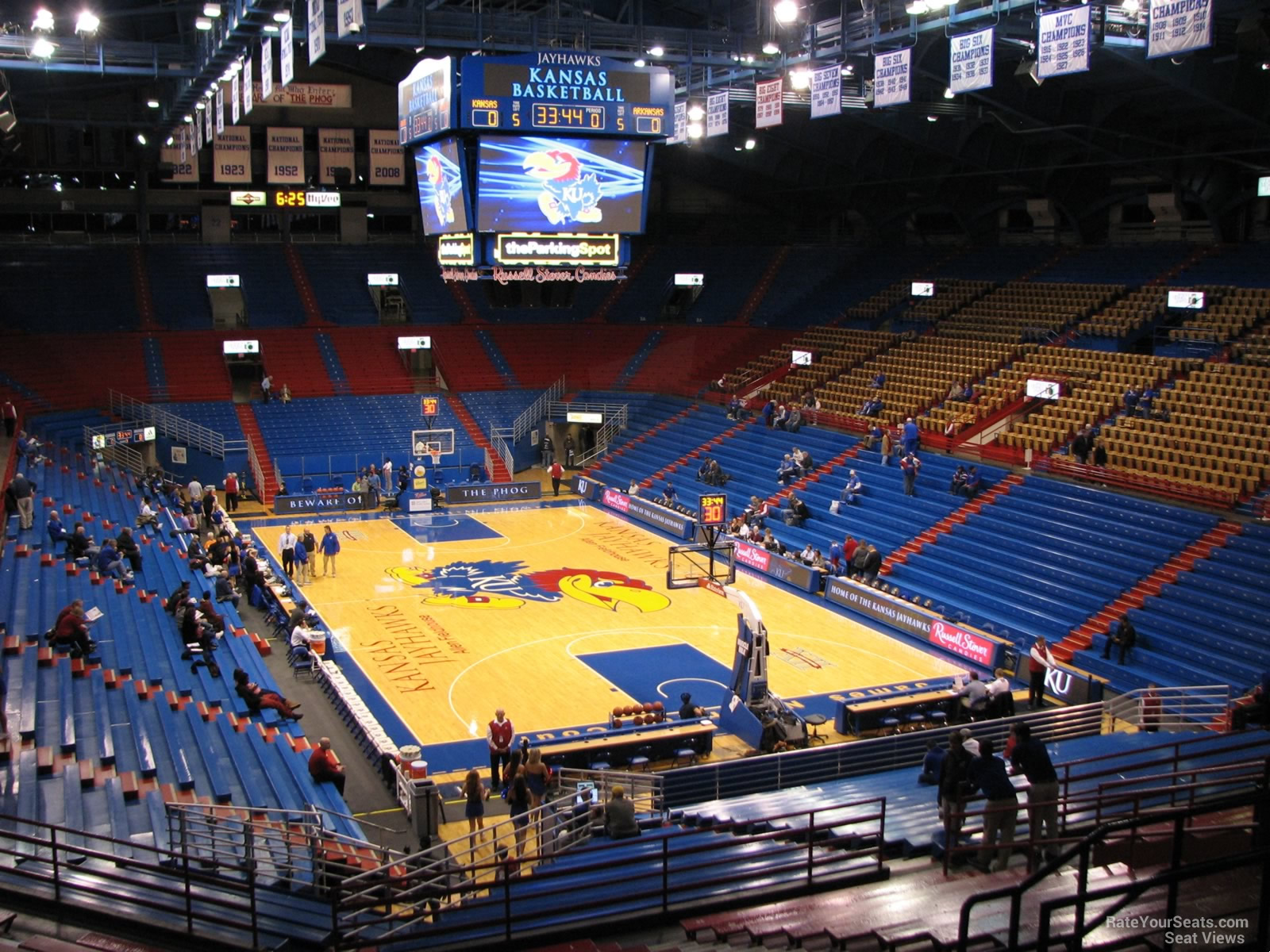 Seat View for Allen Fieldhouse Section 13, Row 18