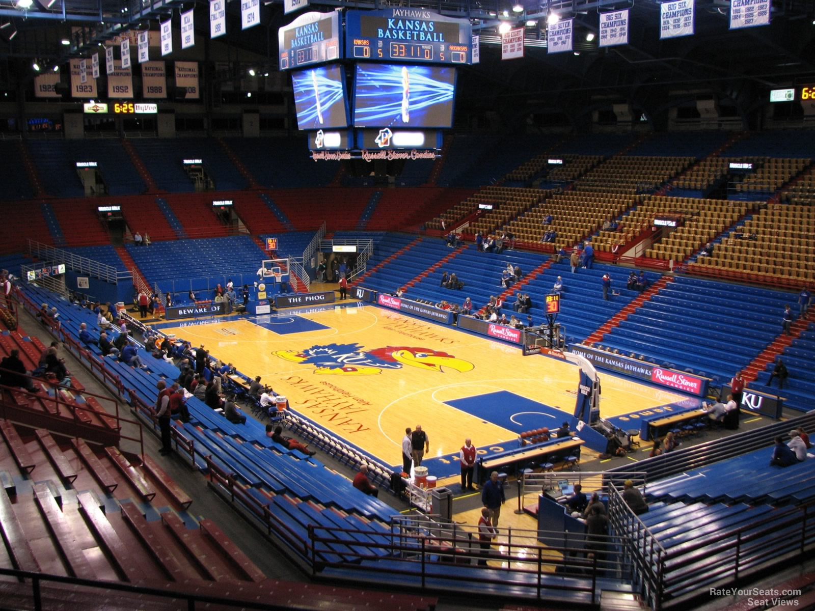 Seat View for Allen Fieldhouse Section 13A, Row 18