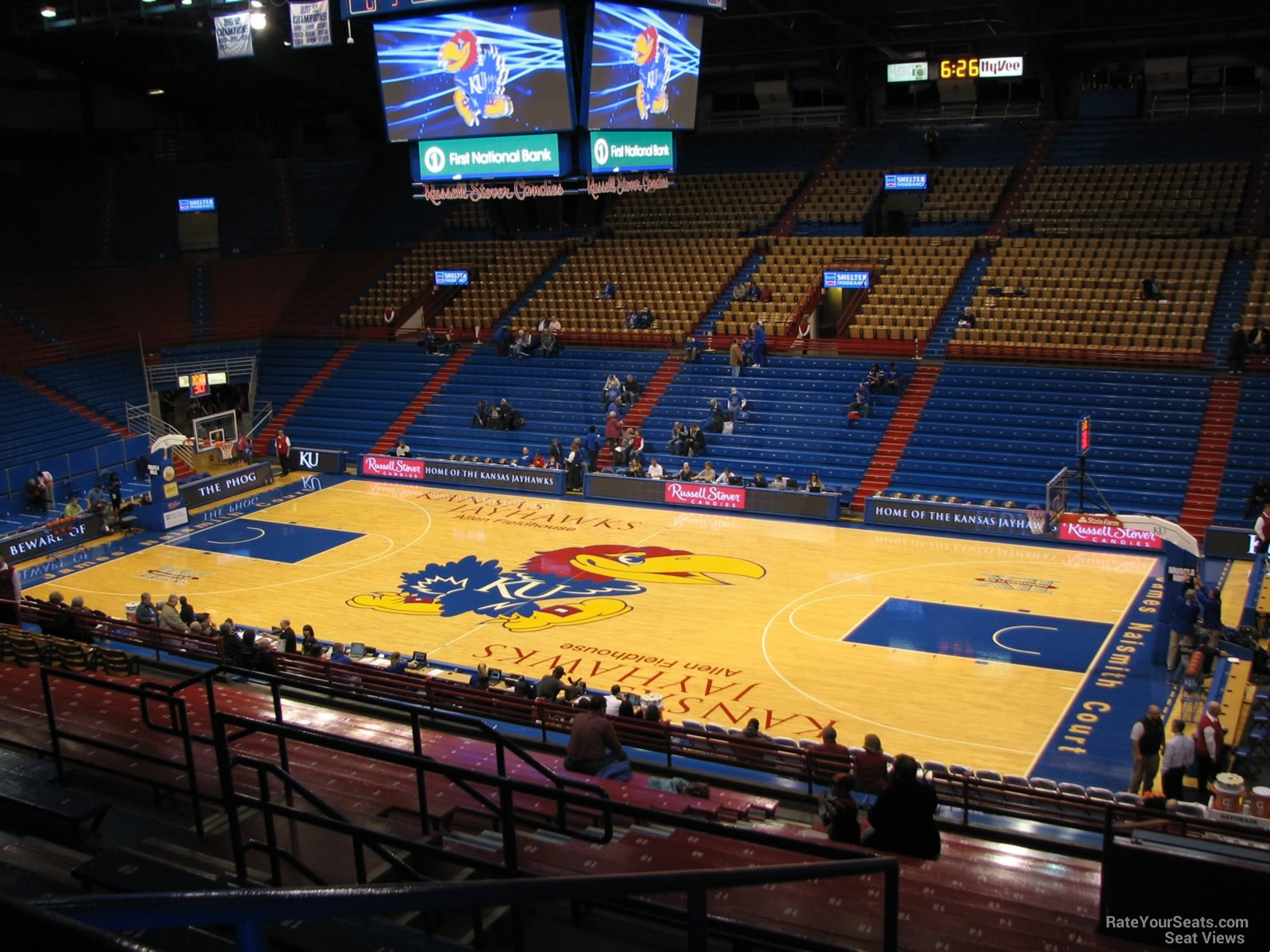 Seat View for Allen Fieldhouse Section 15, Row 18