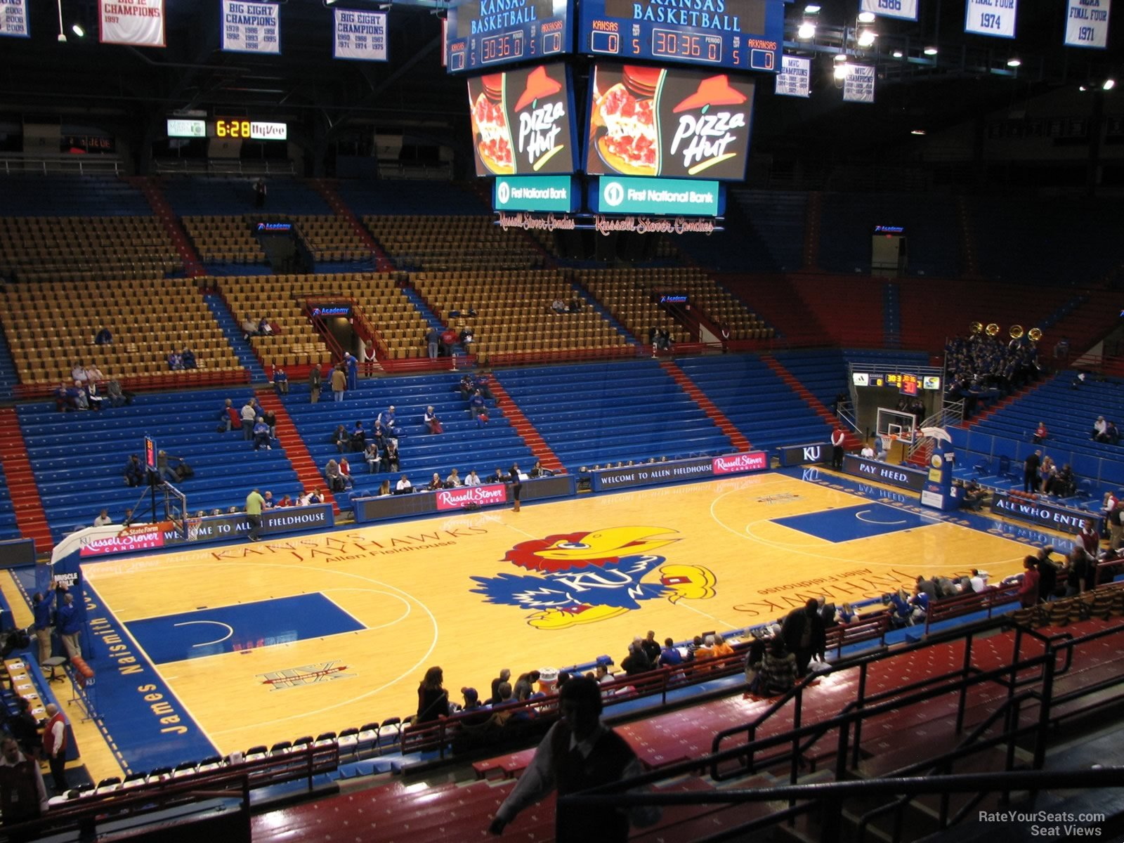 Seat View for Allen Fieldhouse Section 19, Row 18