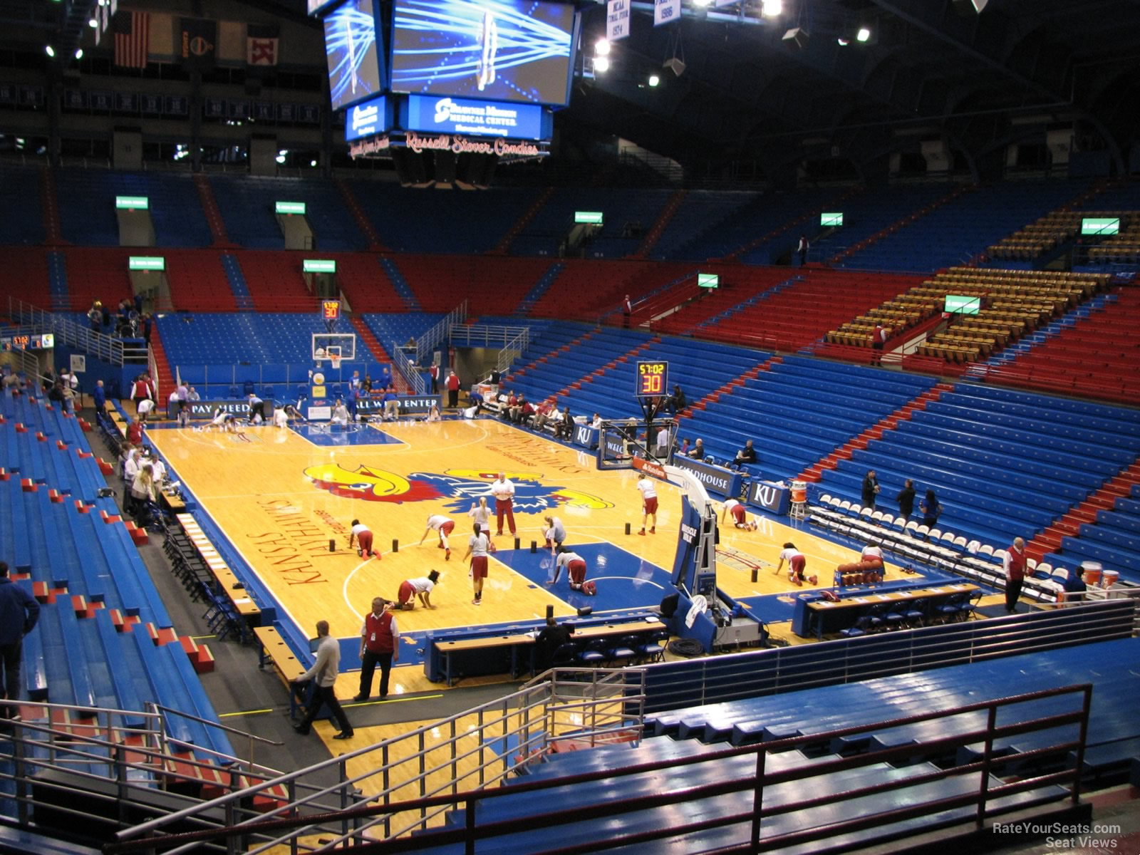 Seat View for Allen Fieldhouse Section 2, Row 6