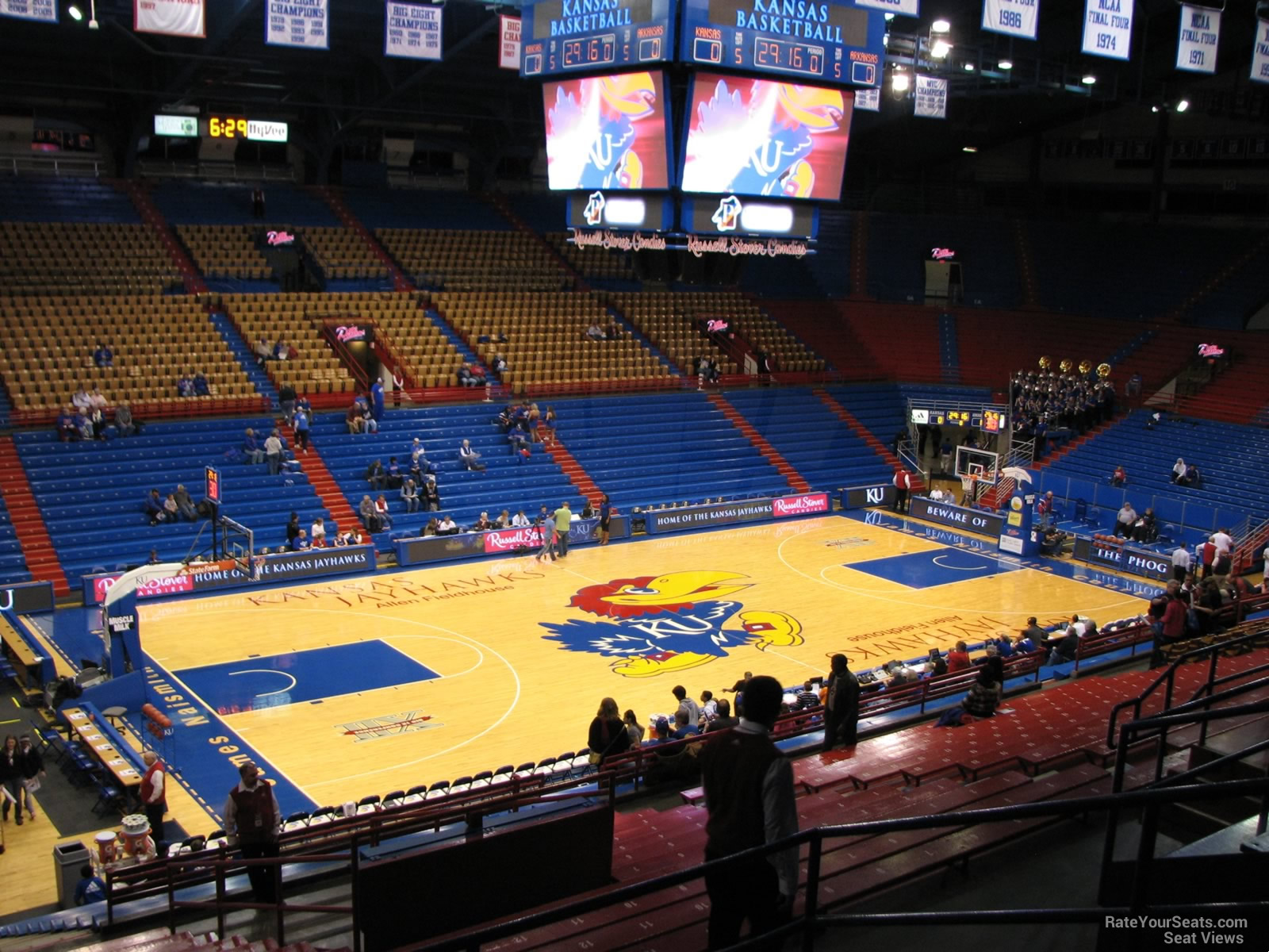Seat View for Allen Fieldhouse Section 20, Row 18