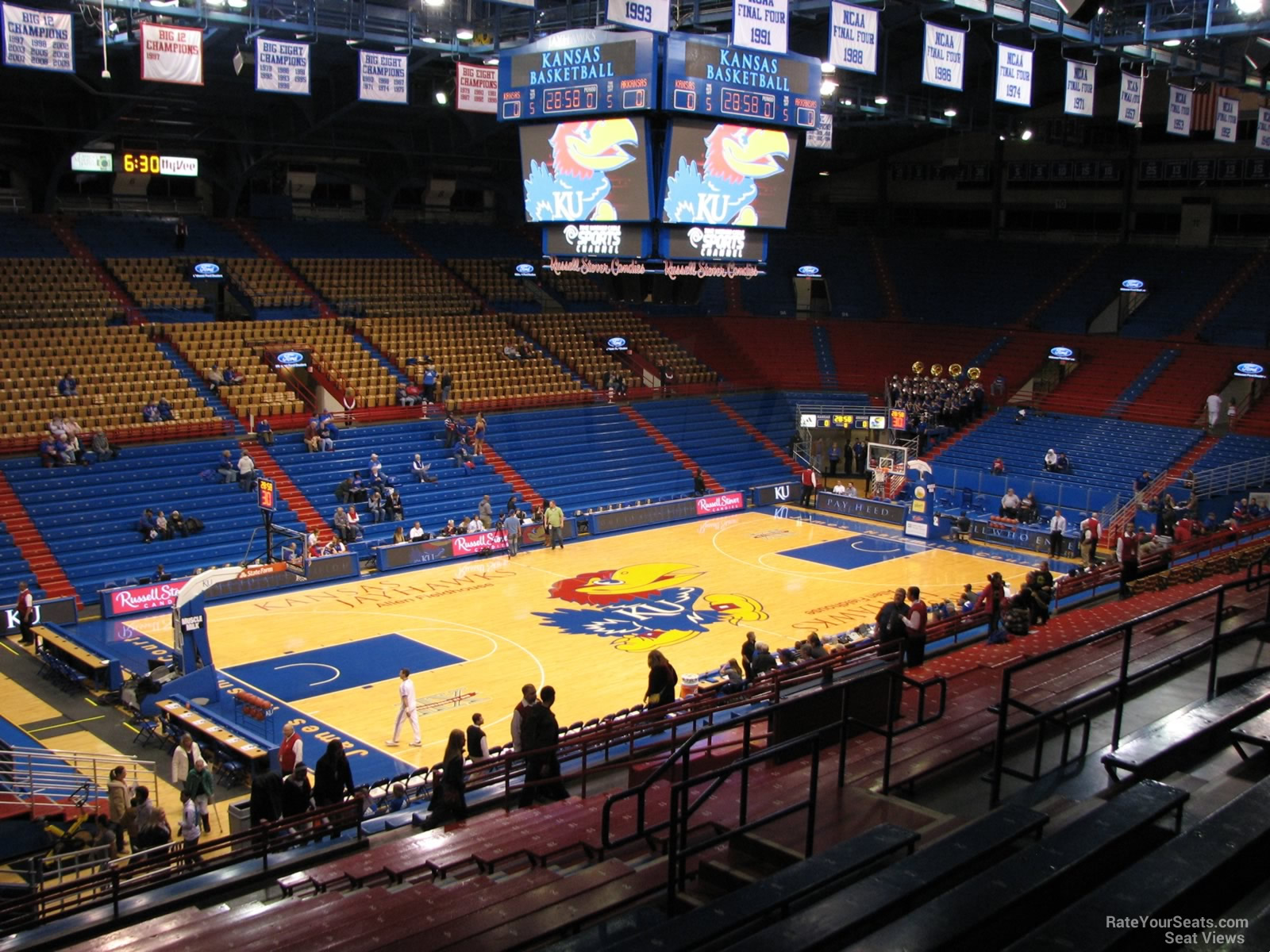Seat View for Allen Fieldhouse Section 20A, Row 18