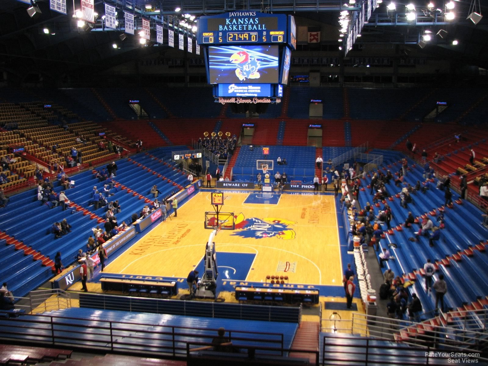 Seat View for Allen Fieldhouse Section 22, Row 18