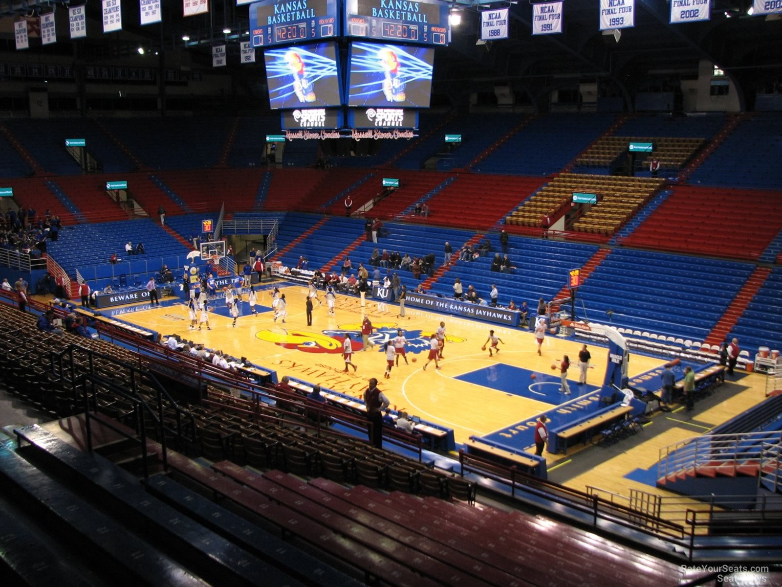 Seat View for Allen Fieldhouse Section 3, Row 18