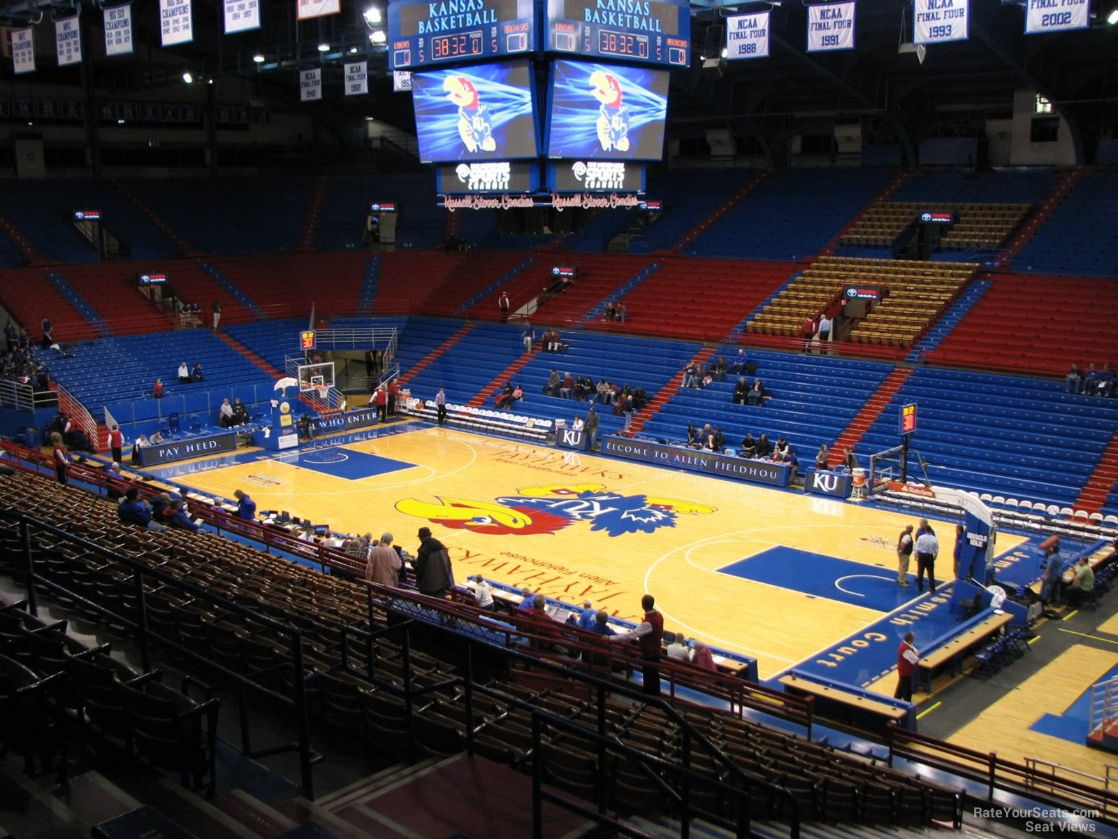 Seat View for Allen Fieldhouse Section 4, Row 18