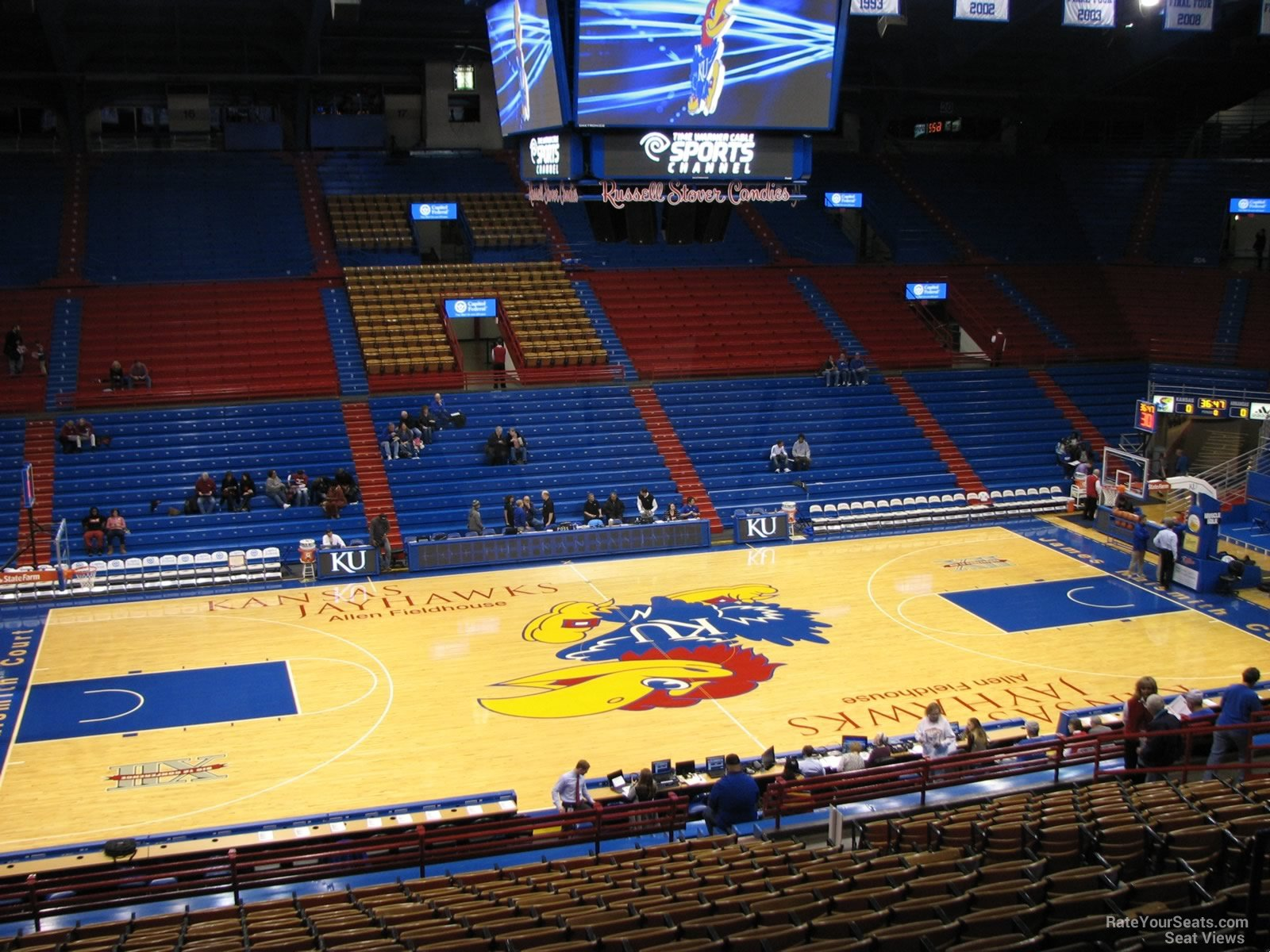 Seat View for Allen Fieldhouse Section 7, Row 18