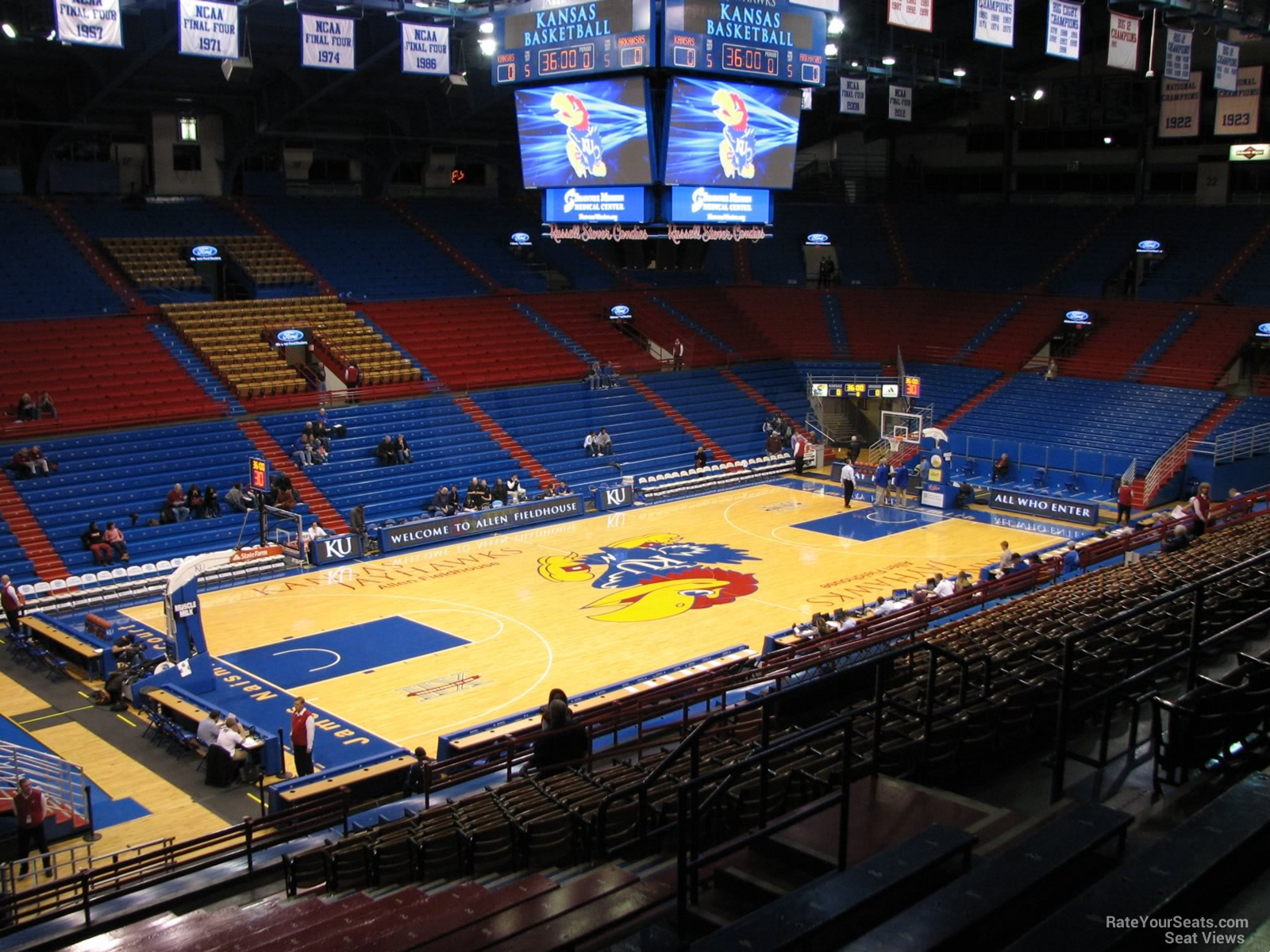 Seat View for Allen Fieldhouse Section 9, Row 18
