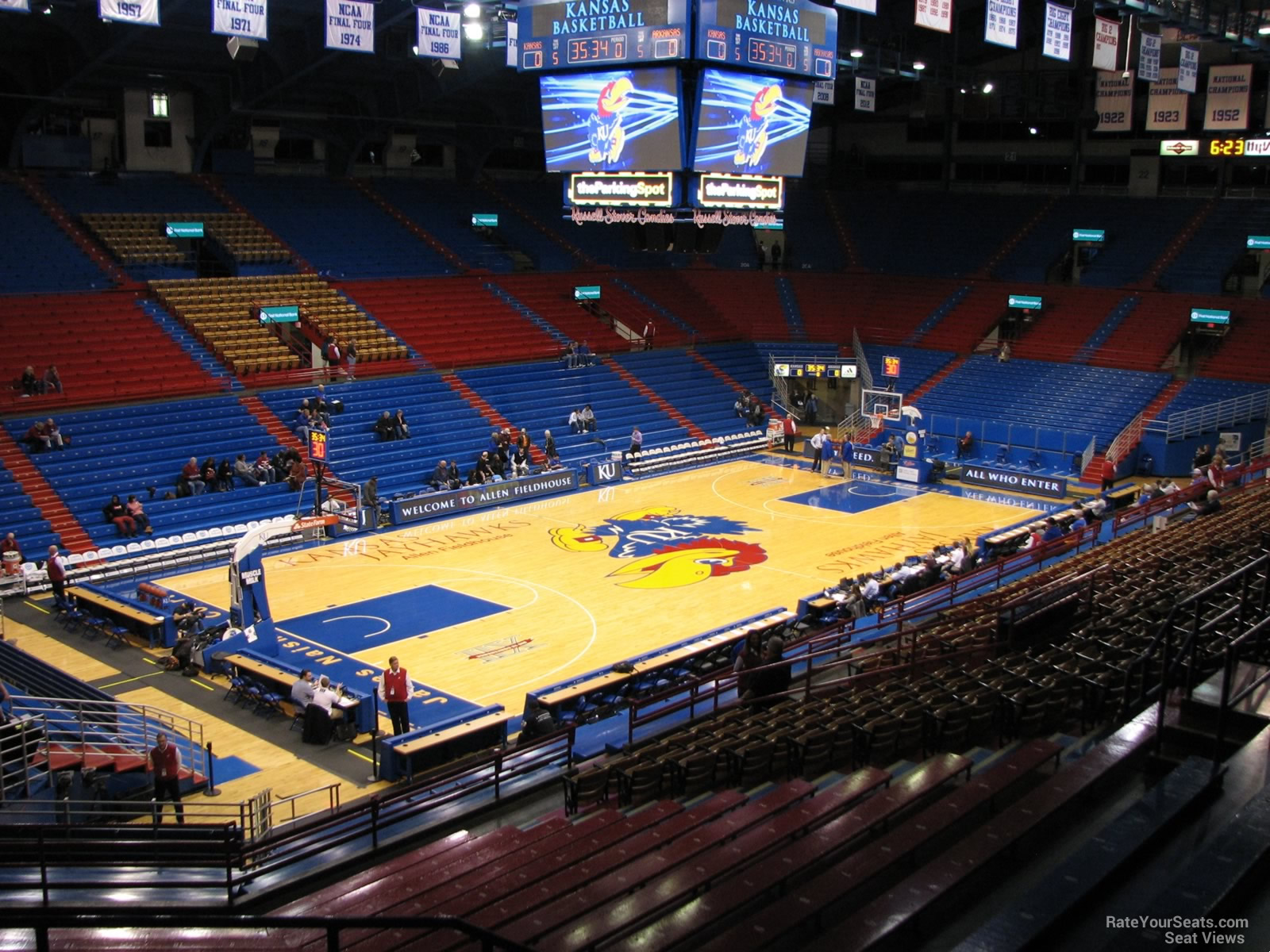 Seat View for Allen Fieldhouse Section 9A, Row 18