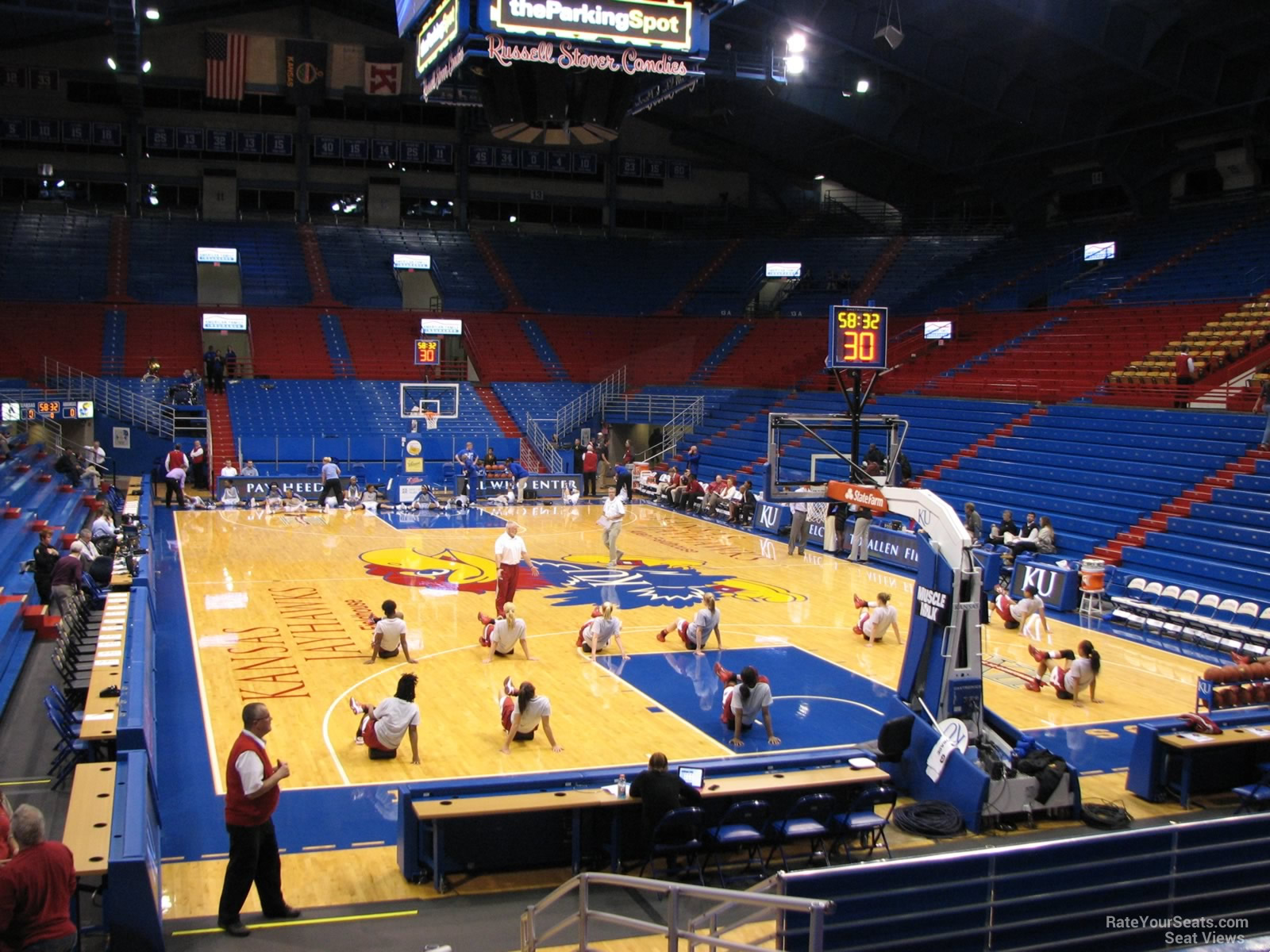 Seat View for Allen Fieldhouse Section C, Row 15
