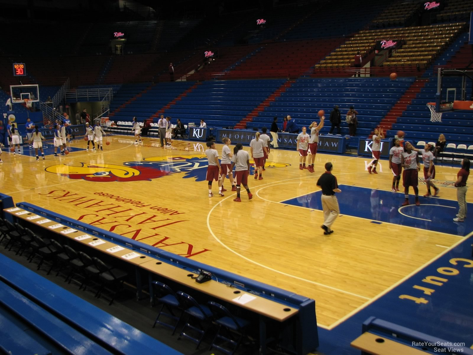 Seat View for Allen Fieldhouse Section E, Row 7