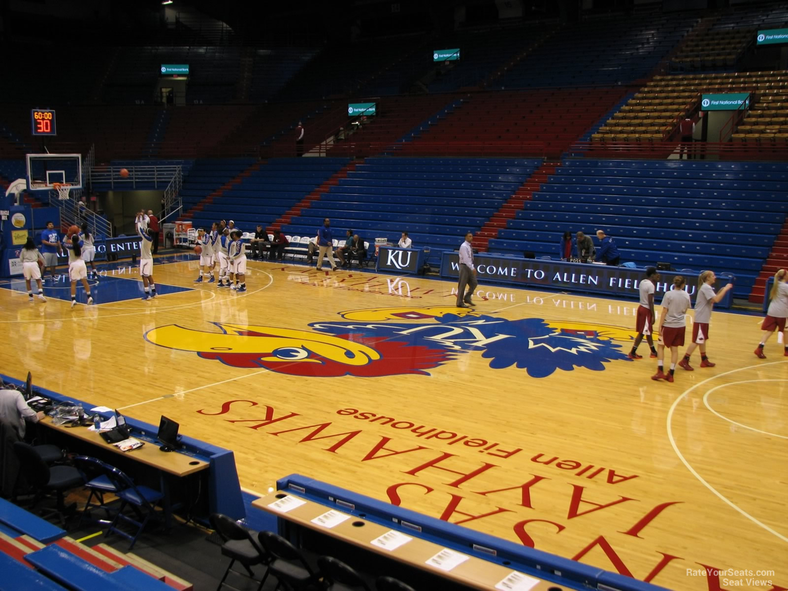 Seat View for Allen Fieldhouse Section F, Row 7