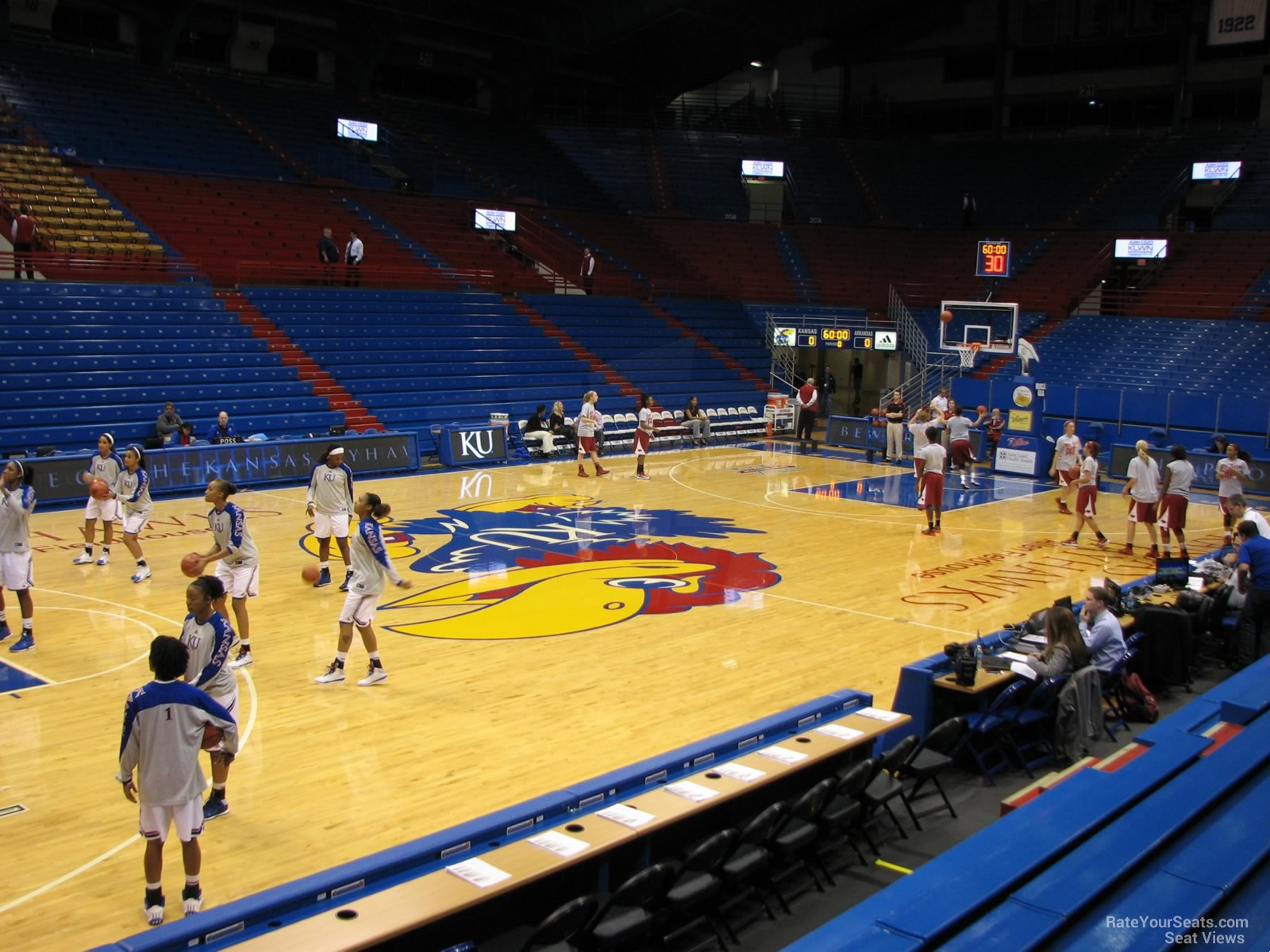 Seat View for Allen Fieldhouse Section H, Row 7
