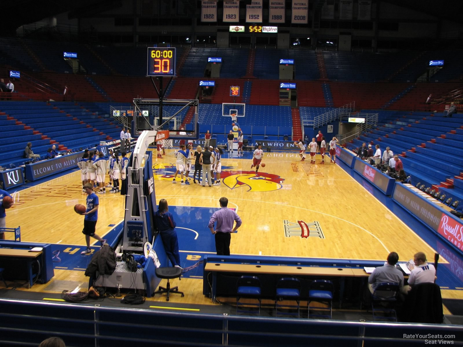 Seat View for Allen Fieldhouse Section M, Row 13