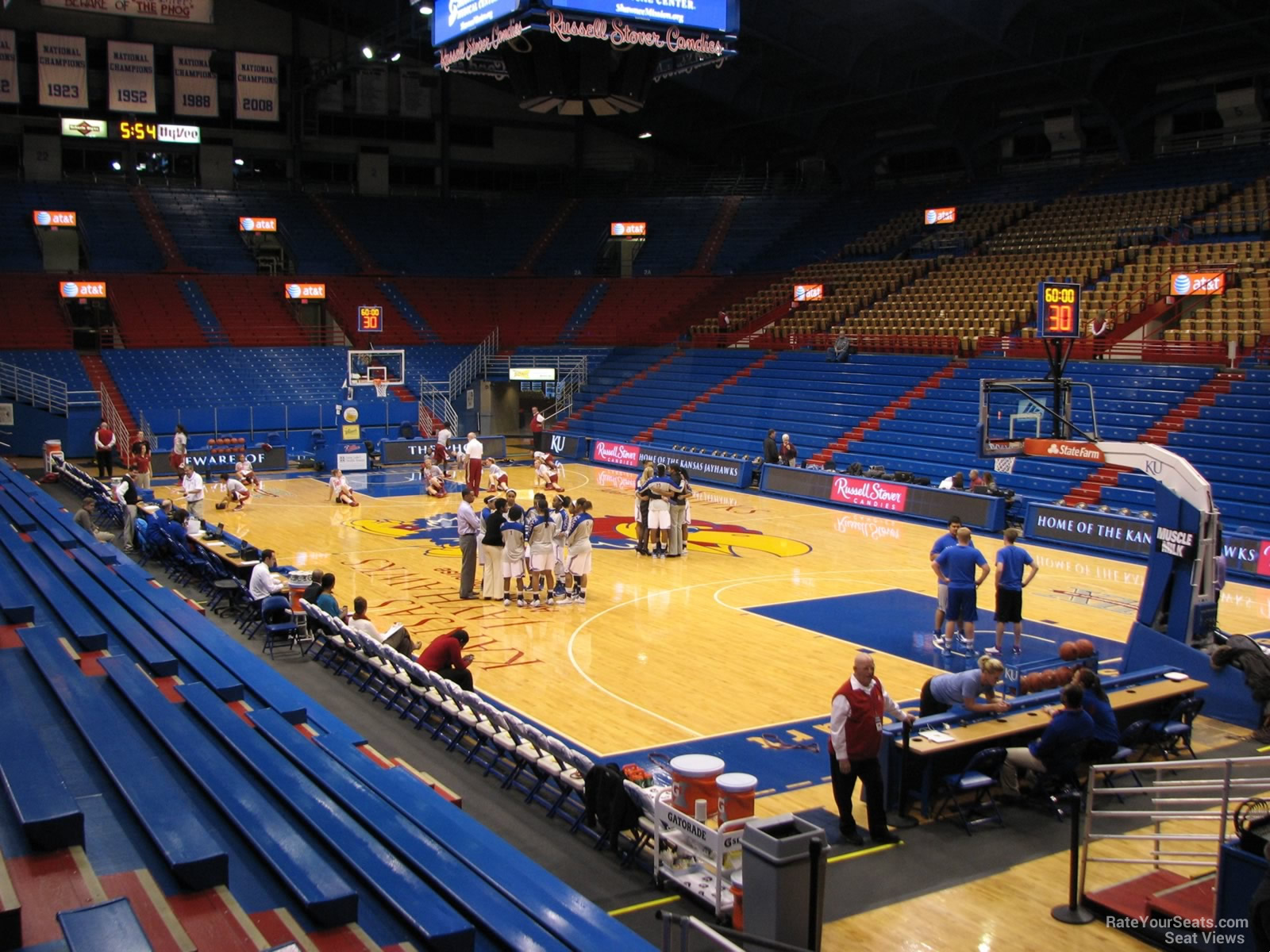 Seat View for Allen Fieldhouse Section P, Row 10