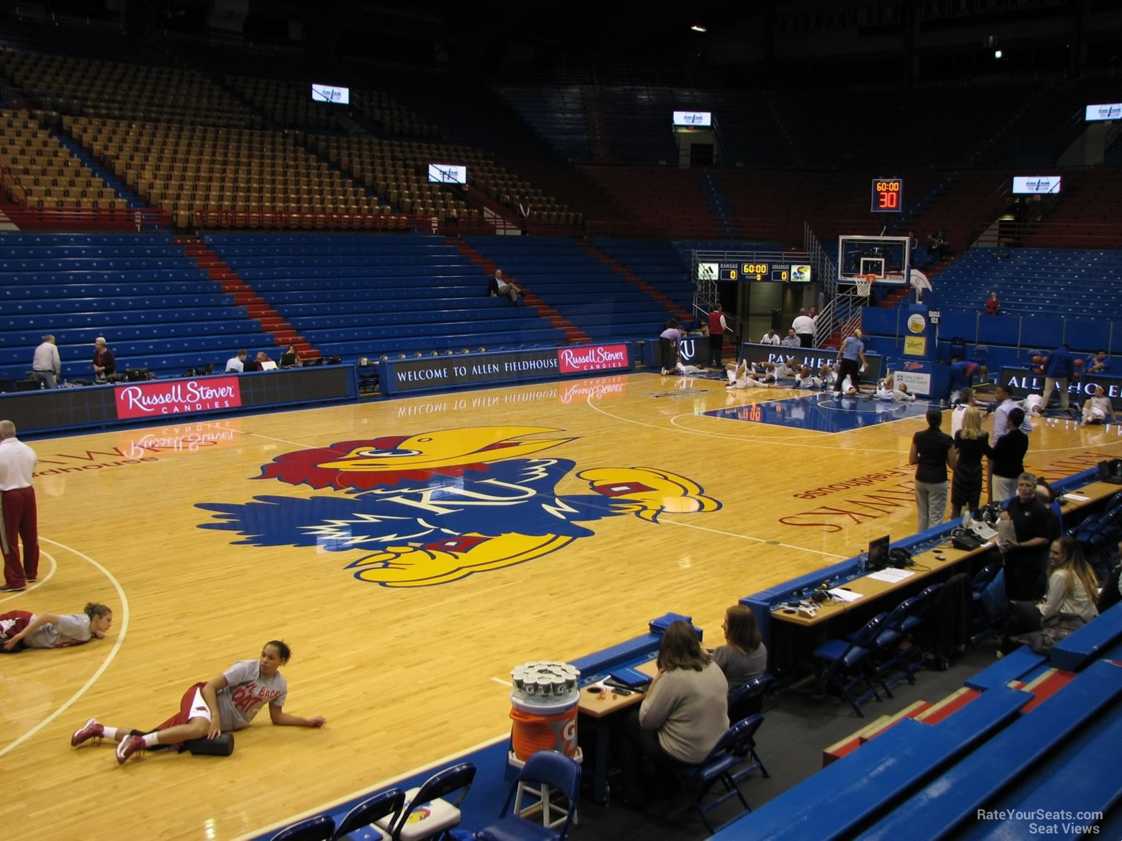 Seat View for Allen Fieldhouse Section T, Row 7