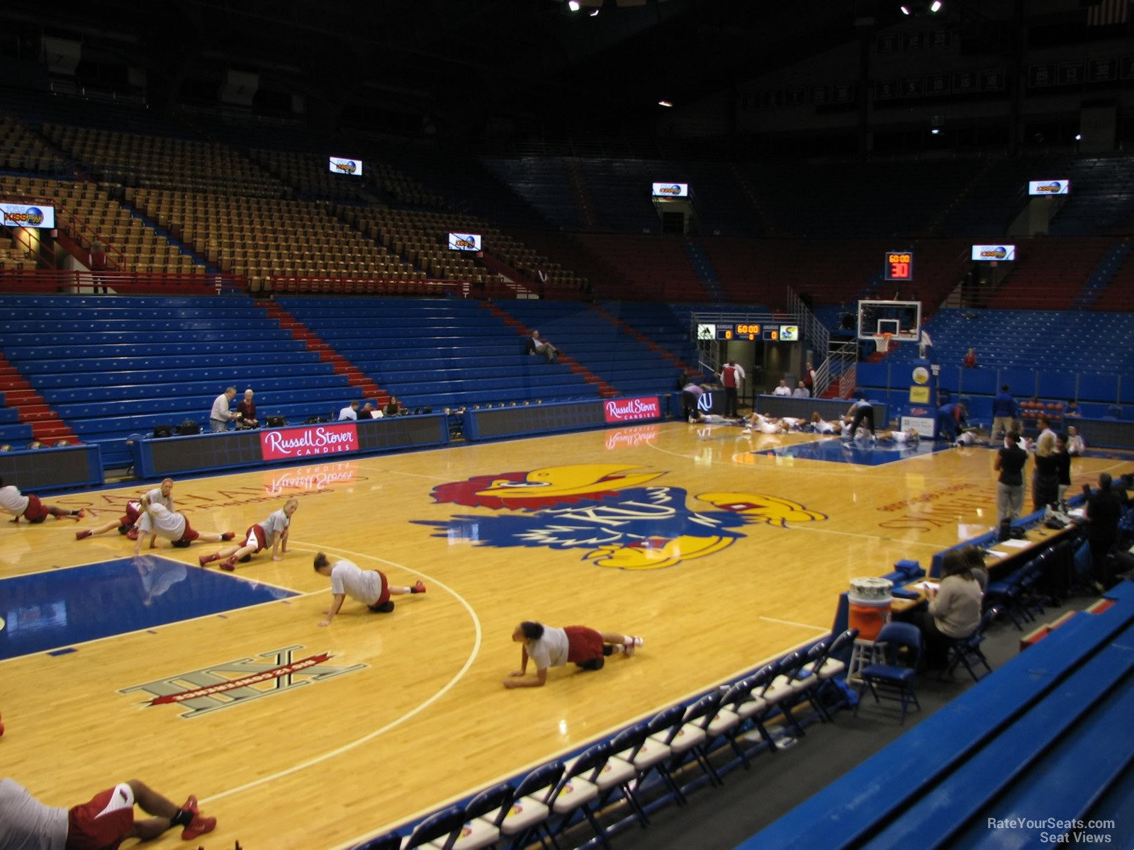Seat View for Allen Fieldhouse Section U, Row 7
