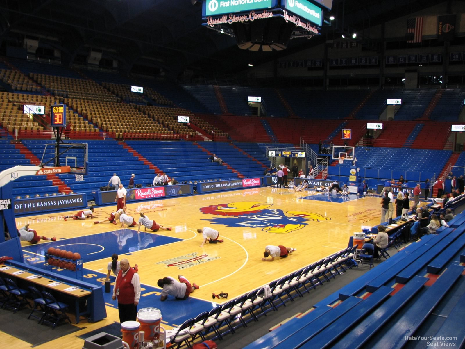 Seat View for Allen Fieldhouse Section V, Row 9
