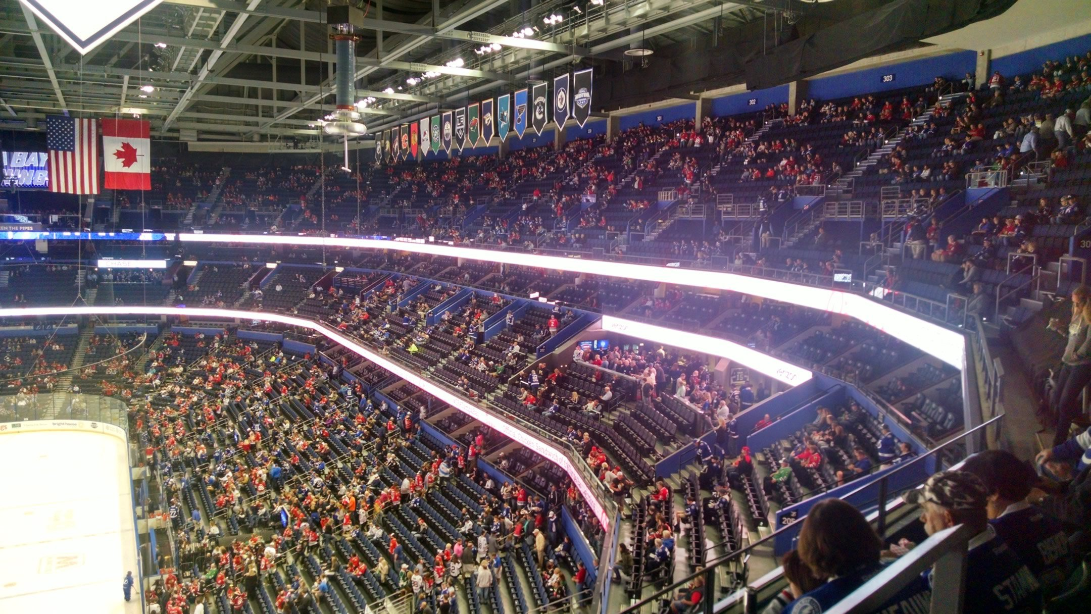 club seats Seat View for Amalie Arena