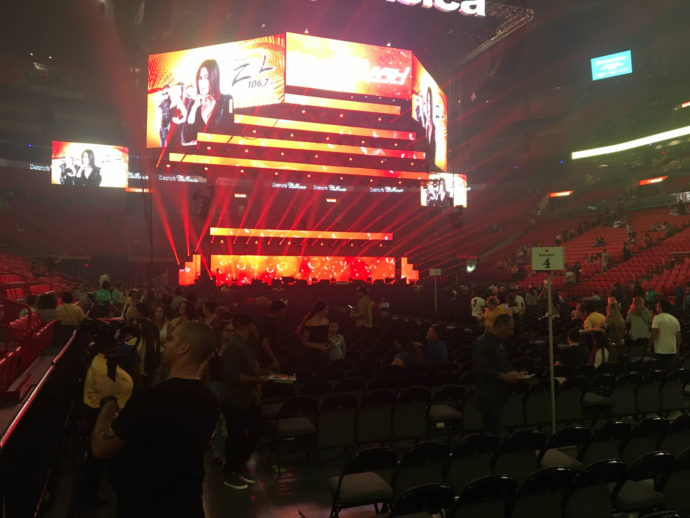 Back left floor at American Airlines Arena for Concert