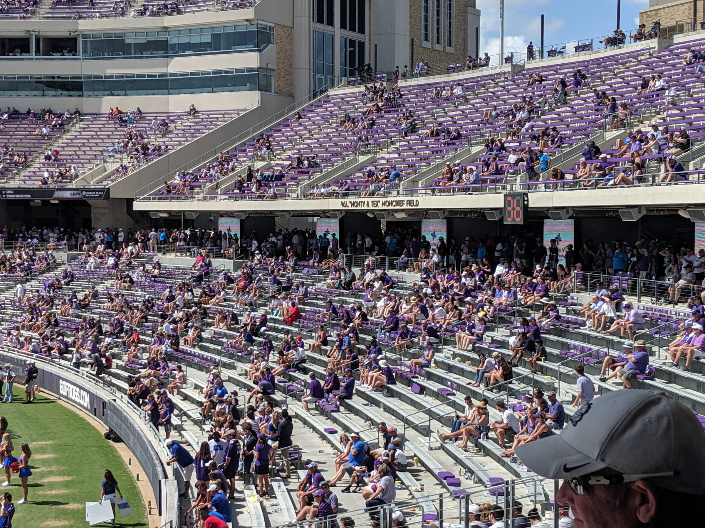 Endzone seats at Amon Carter Stadium