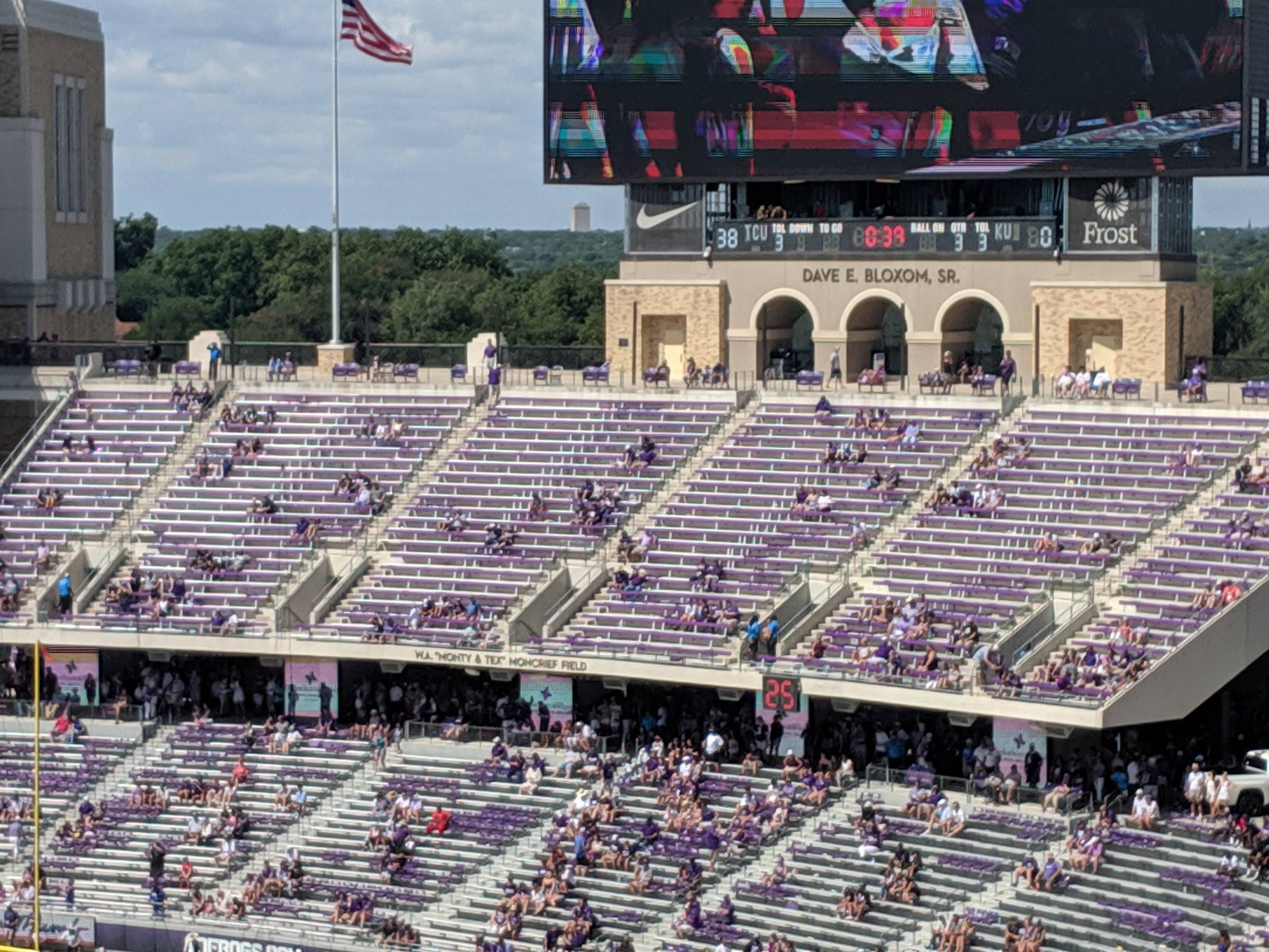 End Zone Seats at Amon Carter Stadium