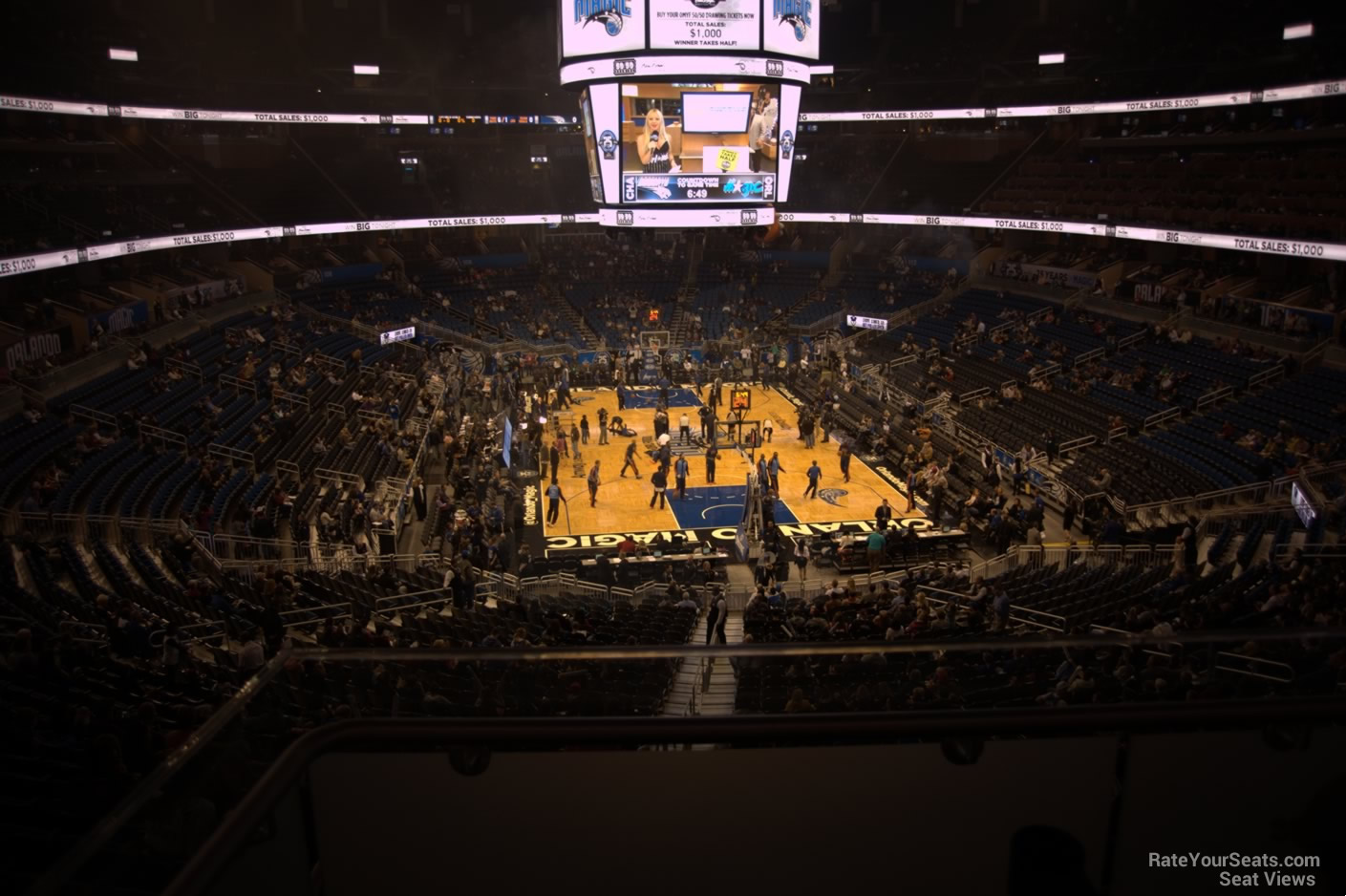 Seat View for Amway Center Section 101, Row 31