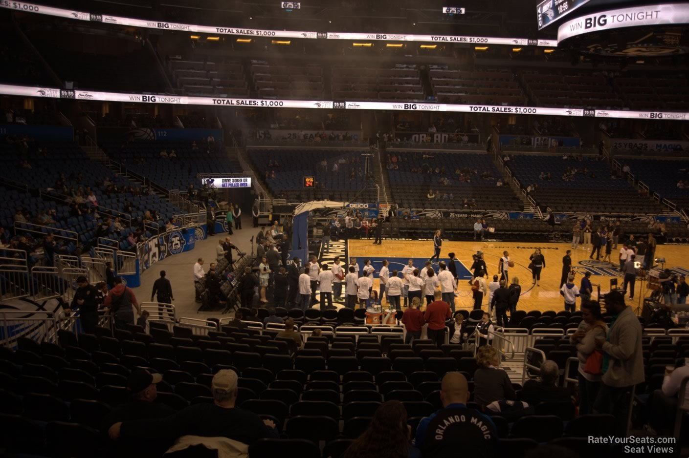 Seat View for Amway Center Section 107, Row 18