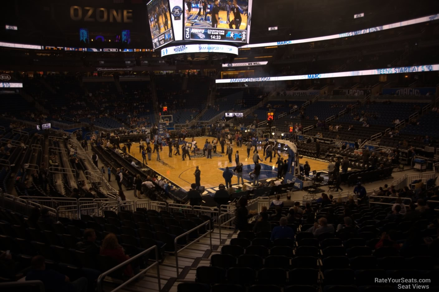 Seat View for Amway Center Section 111, Row 18