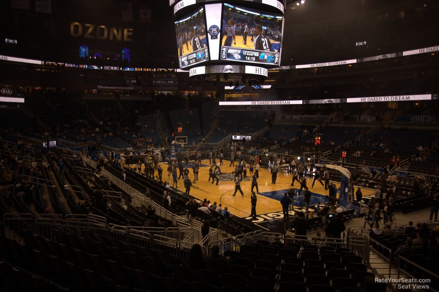 Seat View for Amway Center Section 112, Row 18