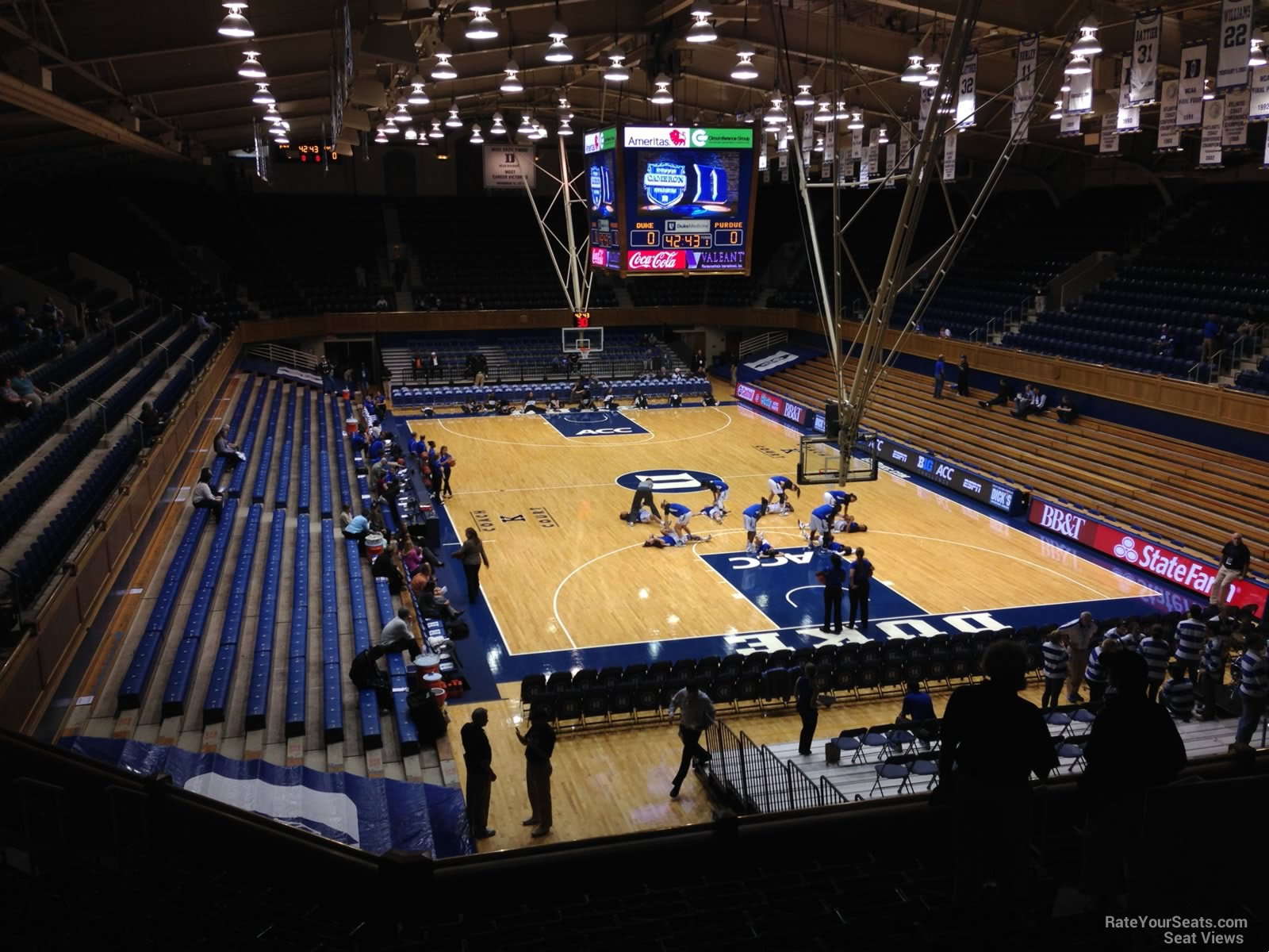 Cameron Indoor Stadium Seating Chart Row Cabinets Matttroy