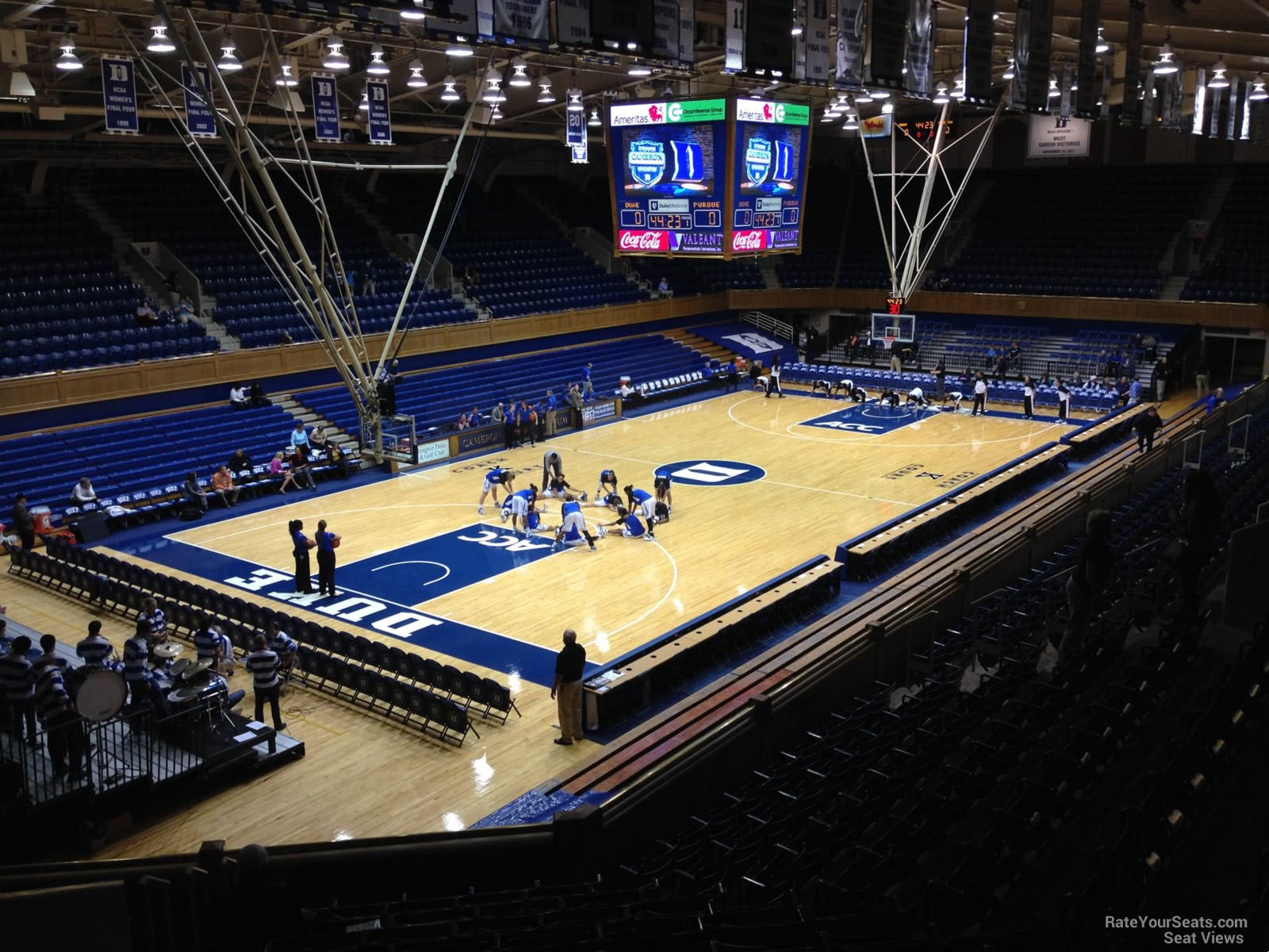 Cameron Indoor Stadium Seating Chart With Rows And Seat