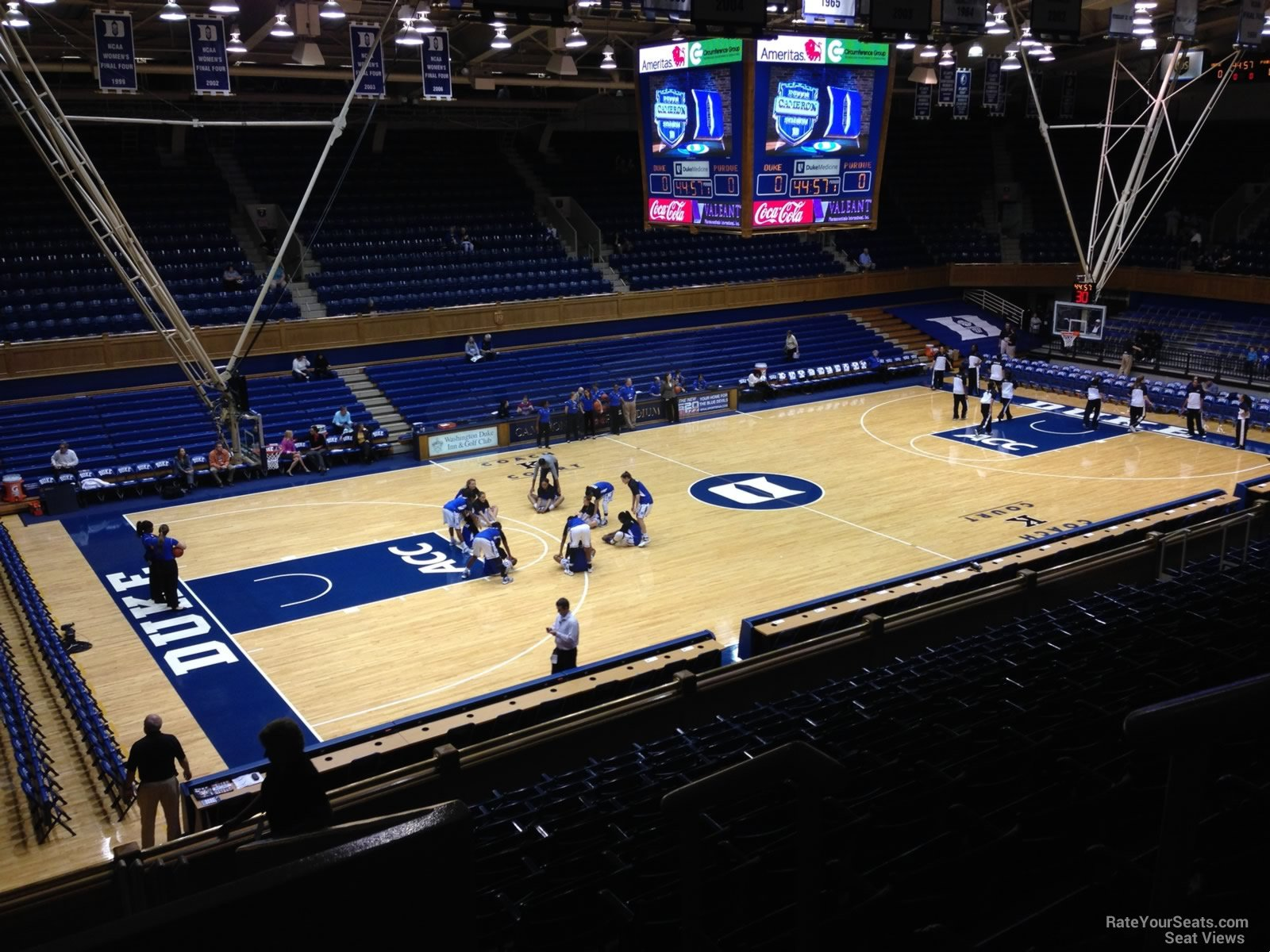 Cameron Indoor Stadium Interactive Seating Chart
