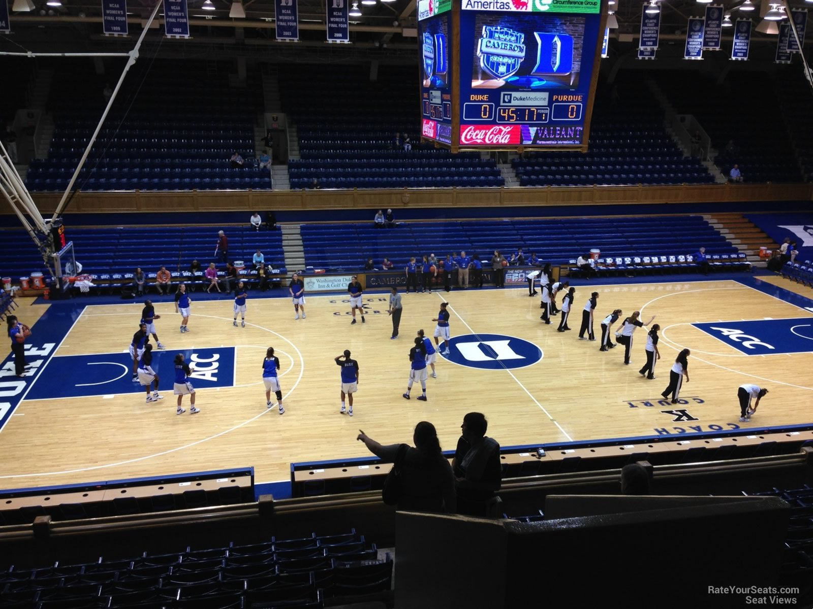 Cameron Indoor Stadium Seating Chart Row Brokeasshome Com