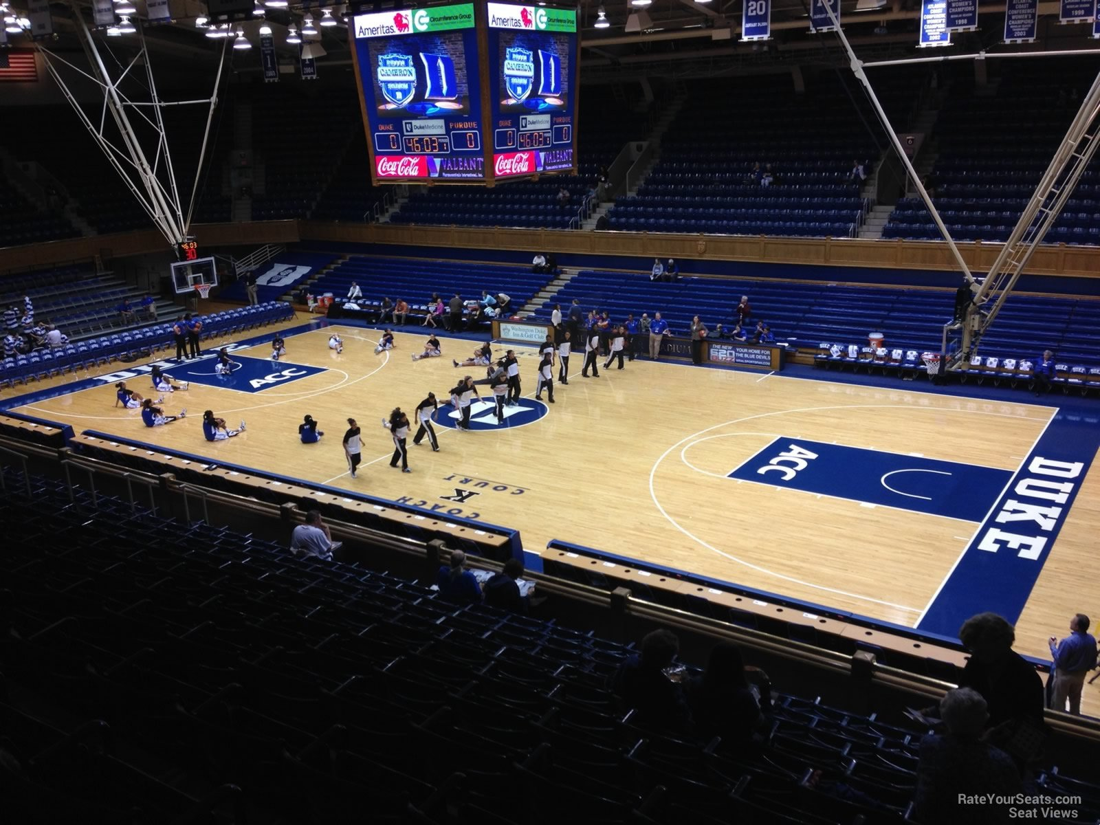 Seat View For Cameron Indoor Stadium Section 16 Row L